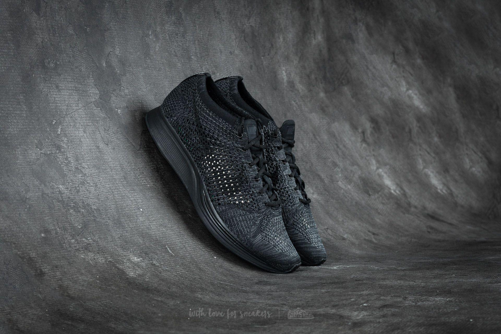 8ce850439439d7 Nike Flyknit Racer Black  Black-Anthracite