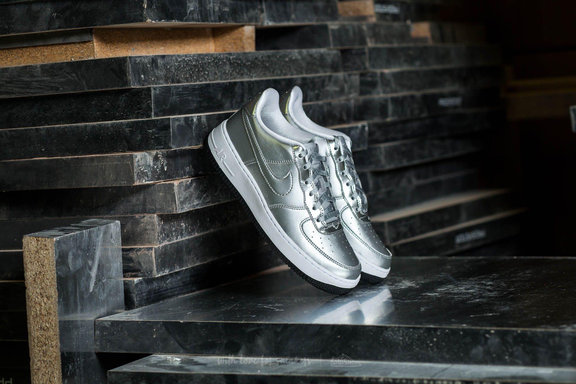 Nike Air Force 1 SE (GS) Metallic Silver | Footshop