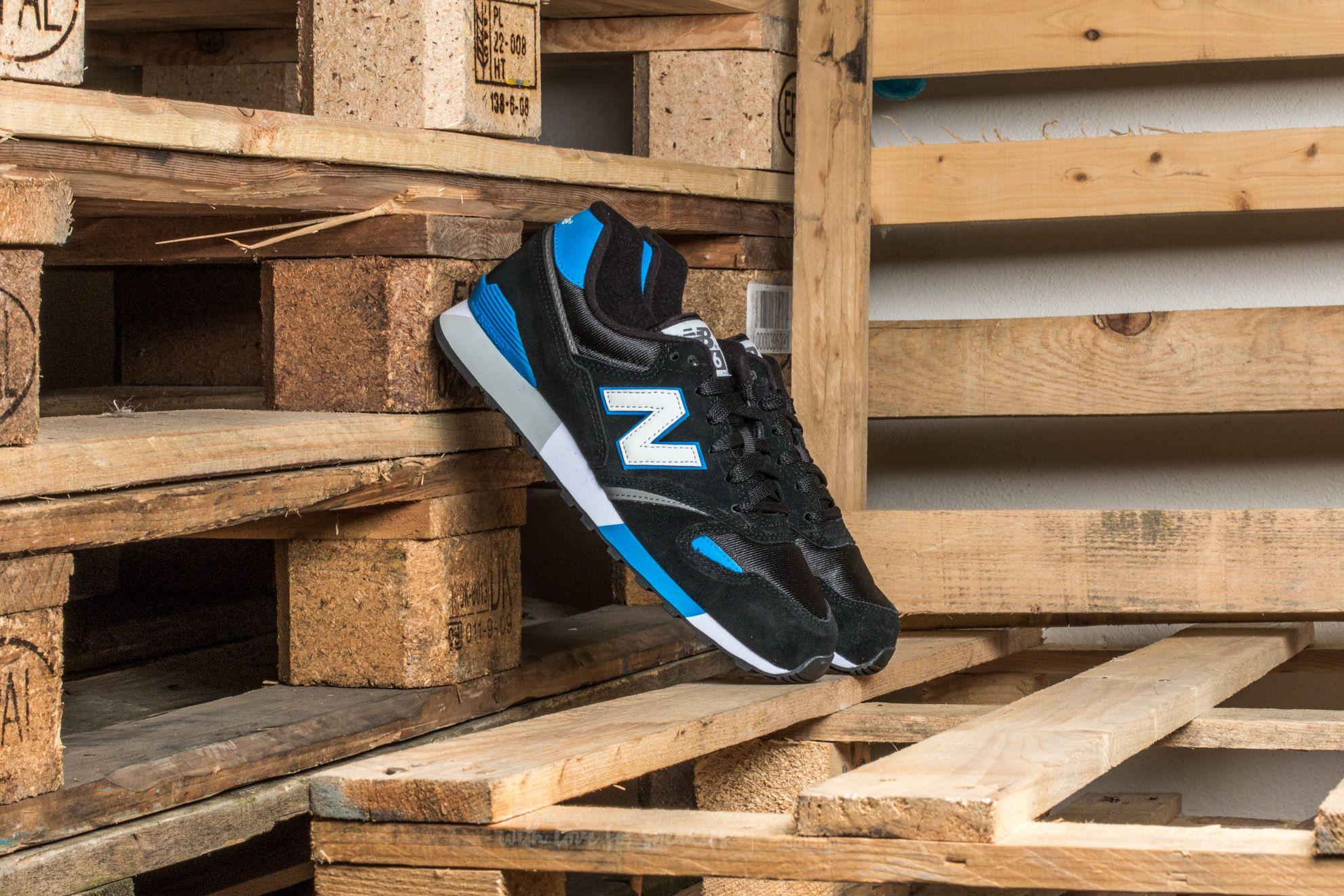 estación de televisión bolsillo anillo  Men's shoes New Balance U446KB Black/ Blue-Grey/ White
