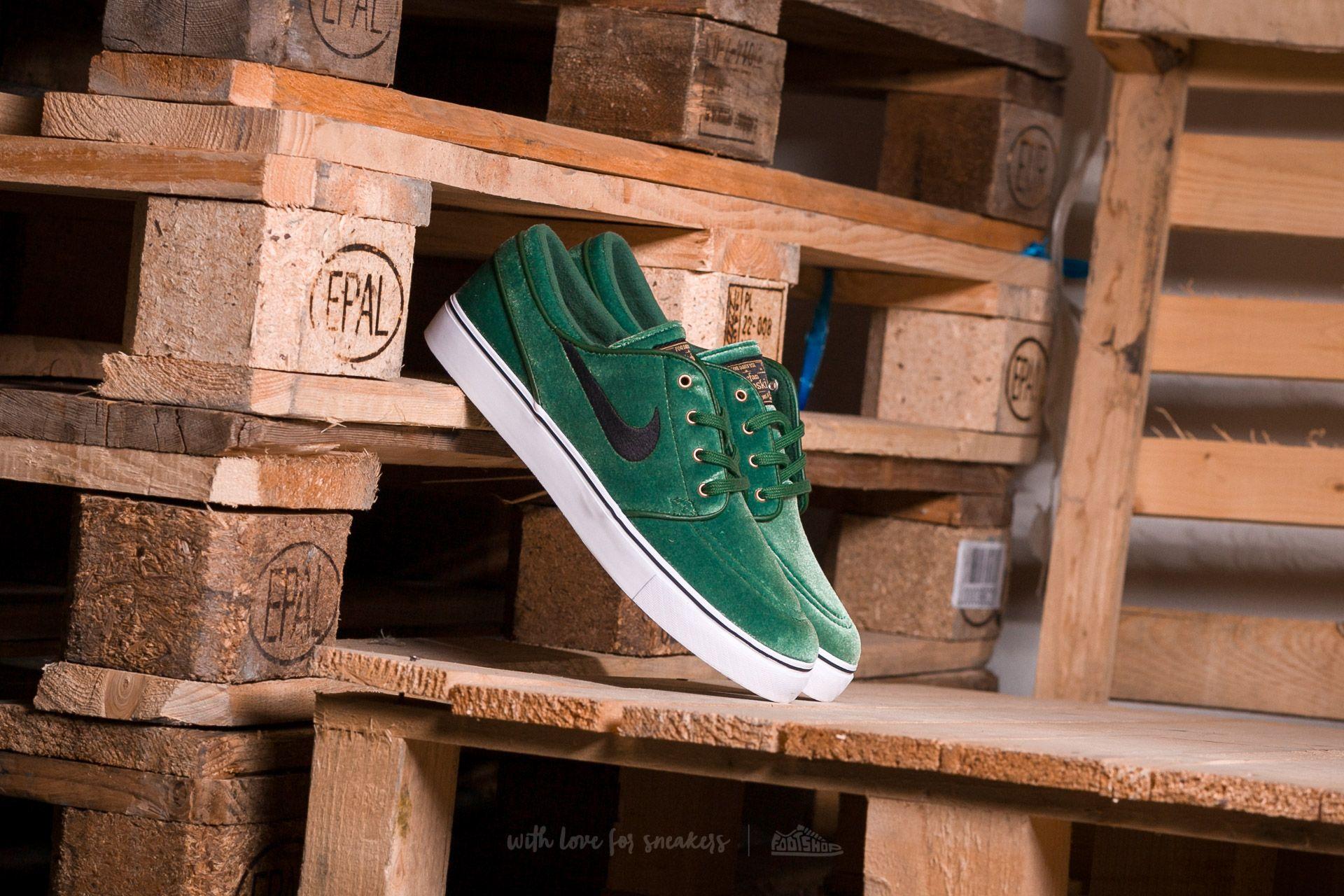 online store 6a161 417b8 Nike SB Zoom Stefan Janoski Premium Gorge Green  Black