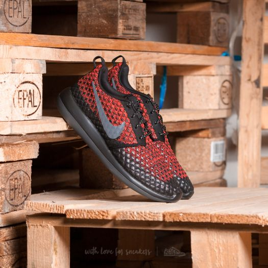 NIKE ROSHE TWO FLYKNIT 365 MEN'S BRIGHT CRIMSONDARK GREYBLACK