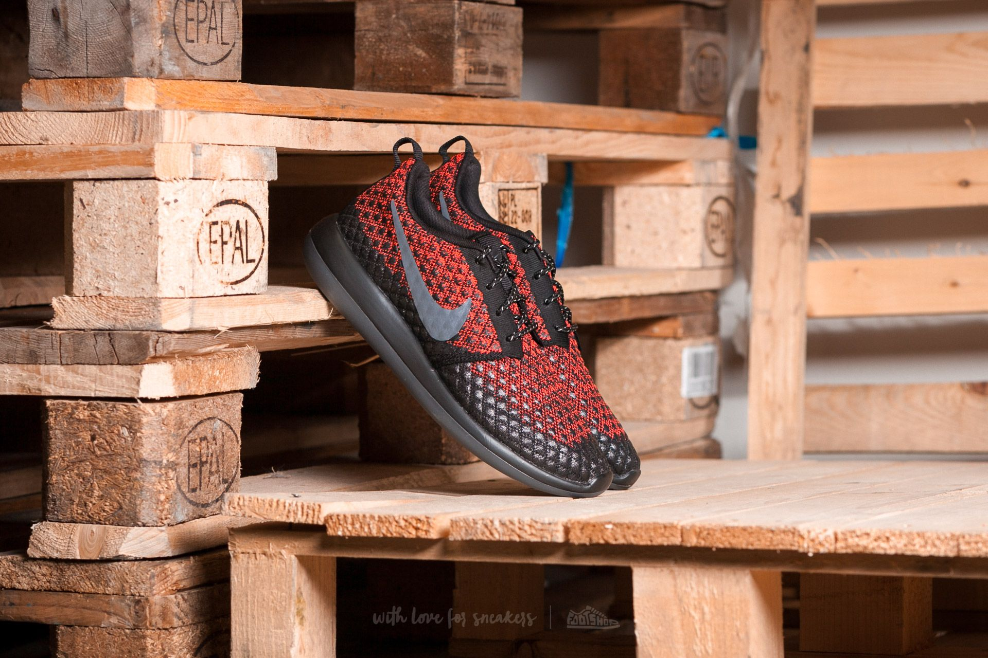 8f533959460 Nike Roshe Two Flyknit 365 Bright Crimson/ Dark Grey-Black | Footshop