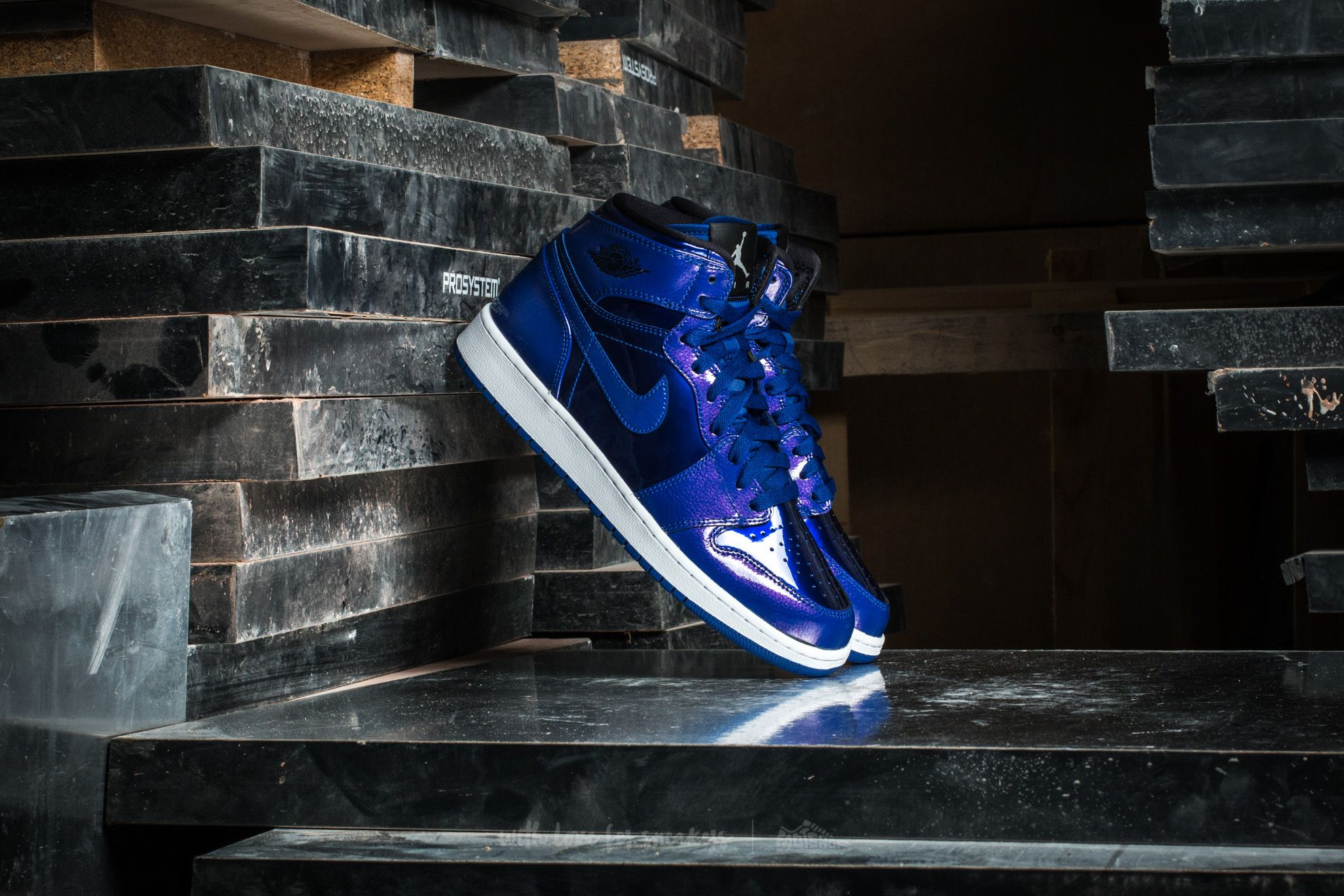8e1f298ea27e0d Air Jordan 1 Retro High BG Deep Royal Blue  Black-White