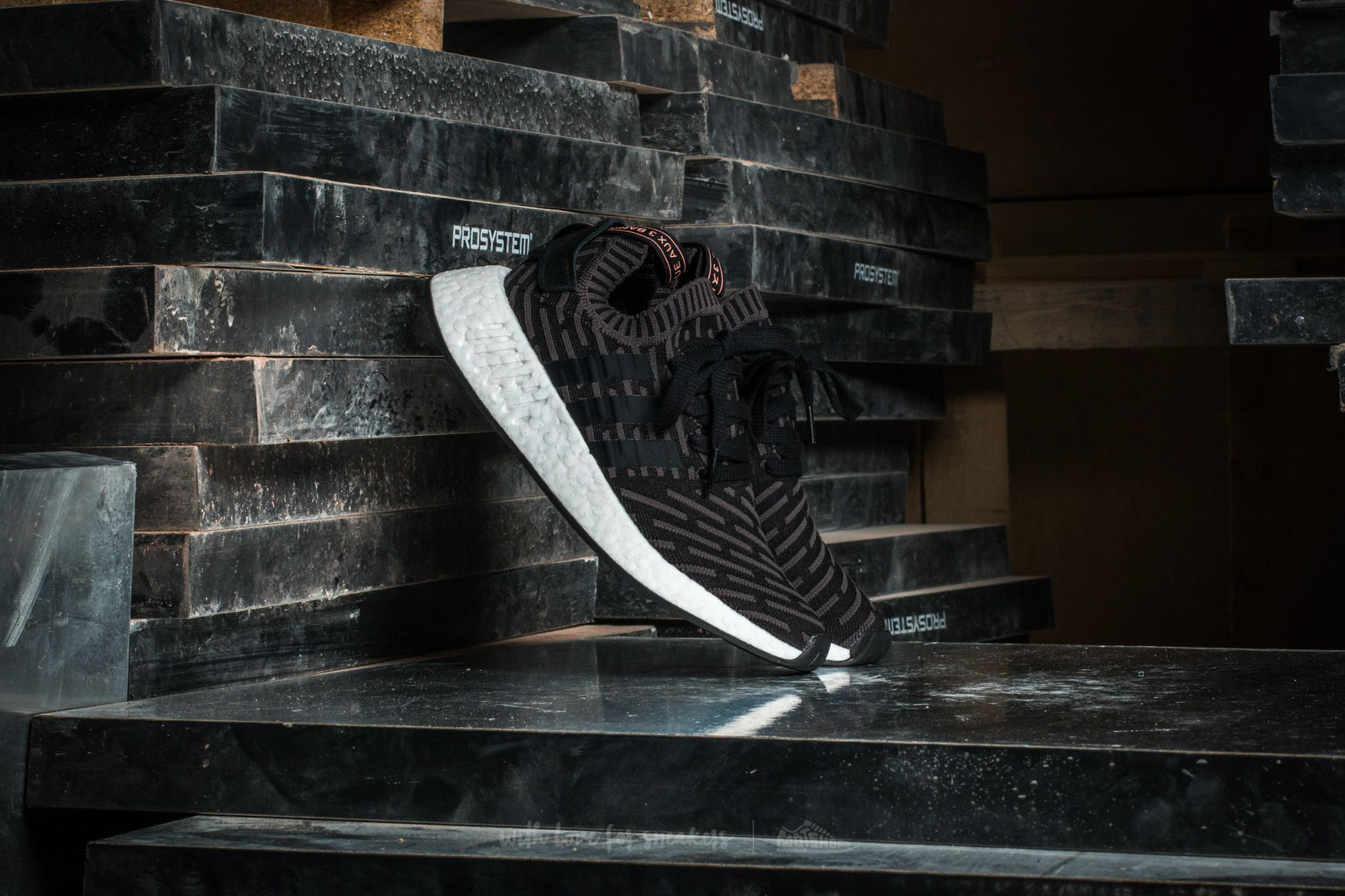 fa7f7a9e4eac3 adidas NMD R2 Primeknit W Utility Black  Core Black  Ftw White ...