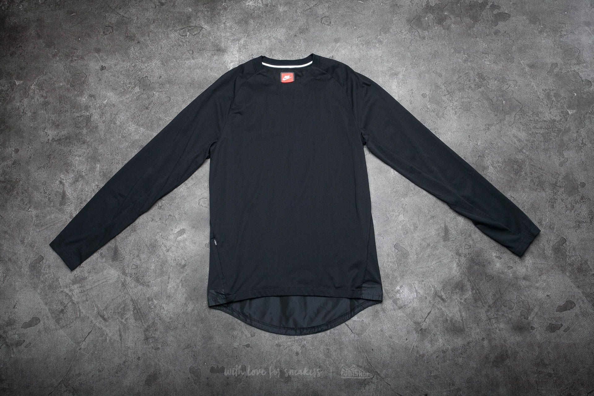 6213cdcb9bcd Nike Sportswear Bonded Men s Long Sleeve Top Black  Black ...