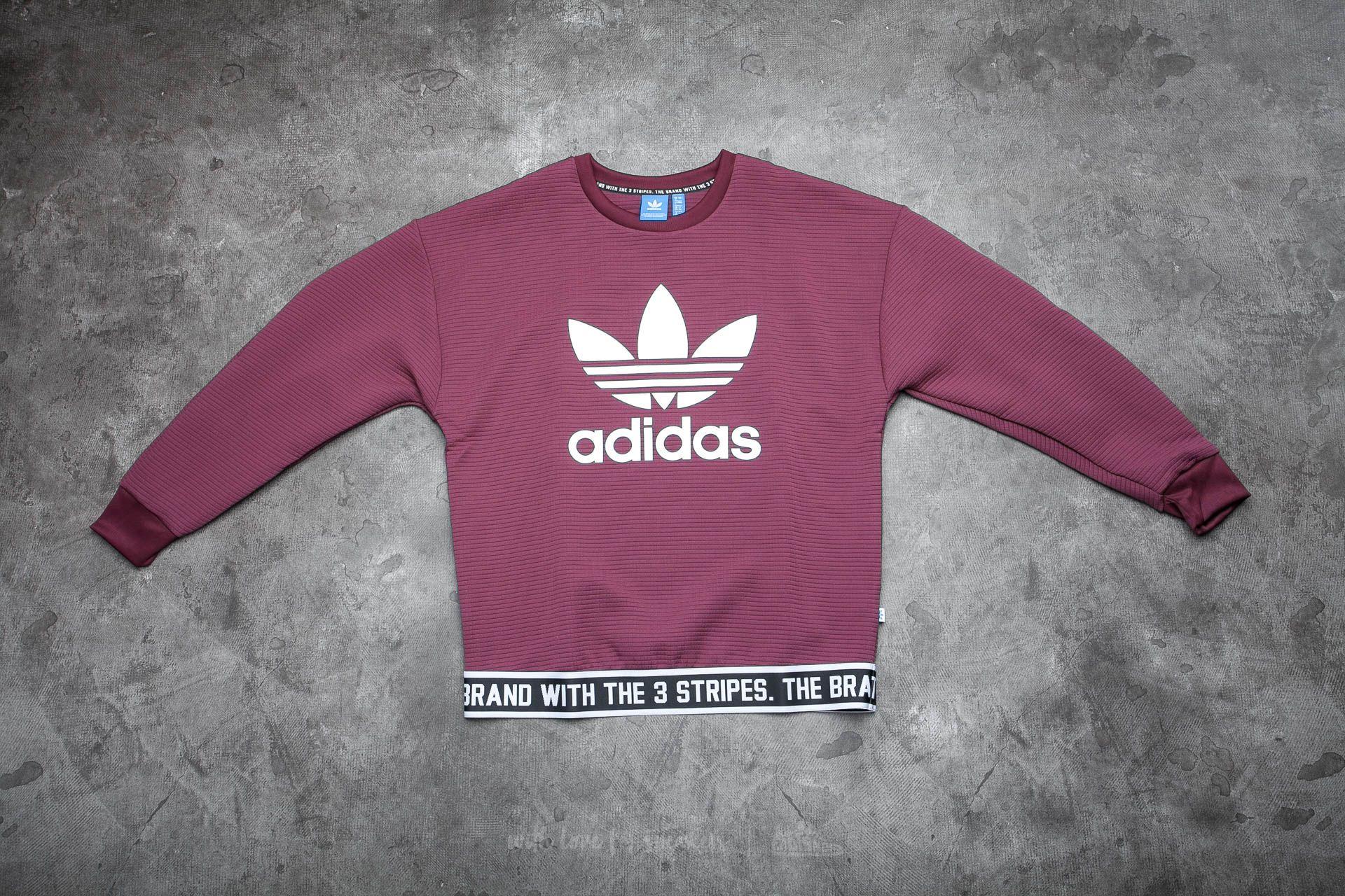 adidas Trefoil Sweatshirt Maroon  92f36fae57a2