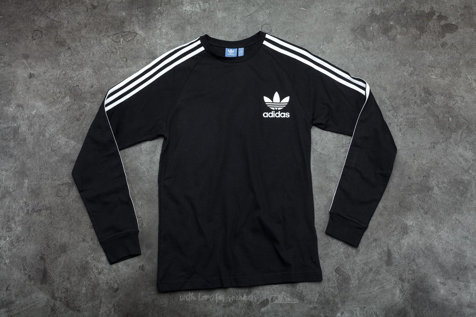 be6b8bad adidas CLFN Long Sleeve Tee Black | Footshop