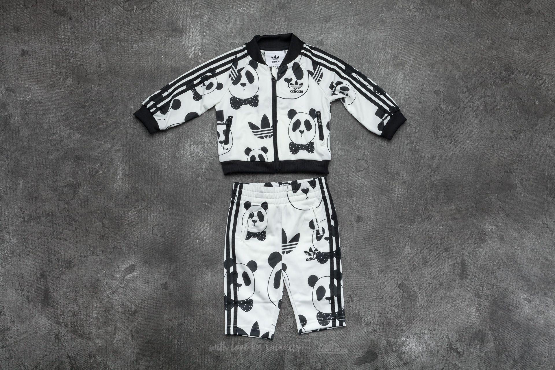 5e0339c950e adidas Mini Rodini Superstar Track Suit Off White  Black