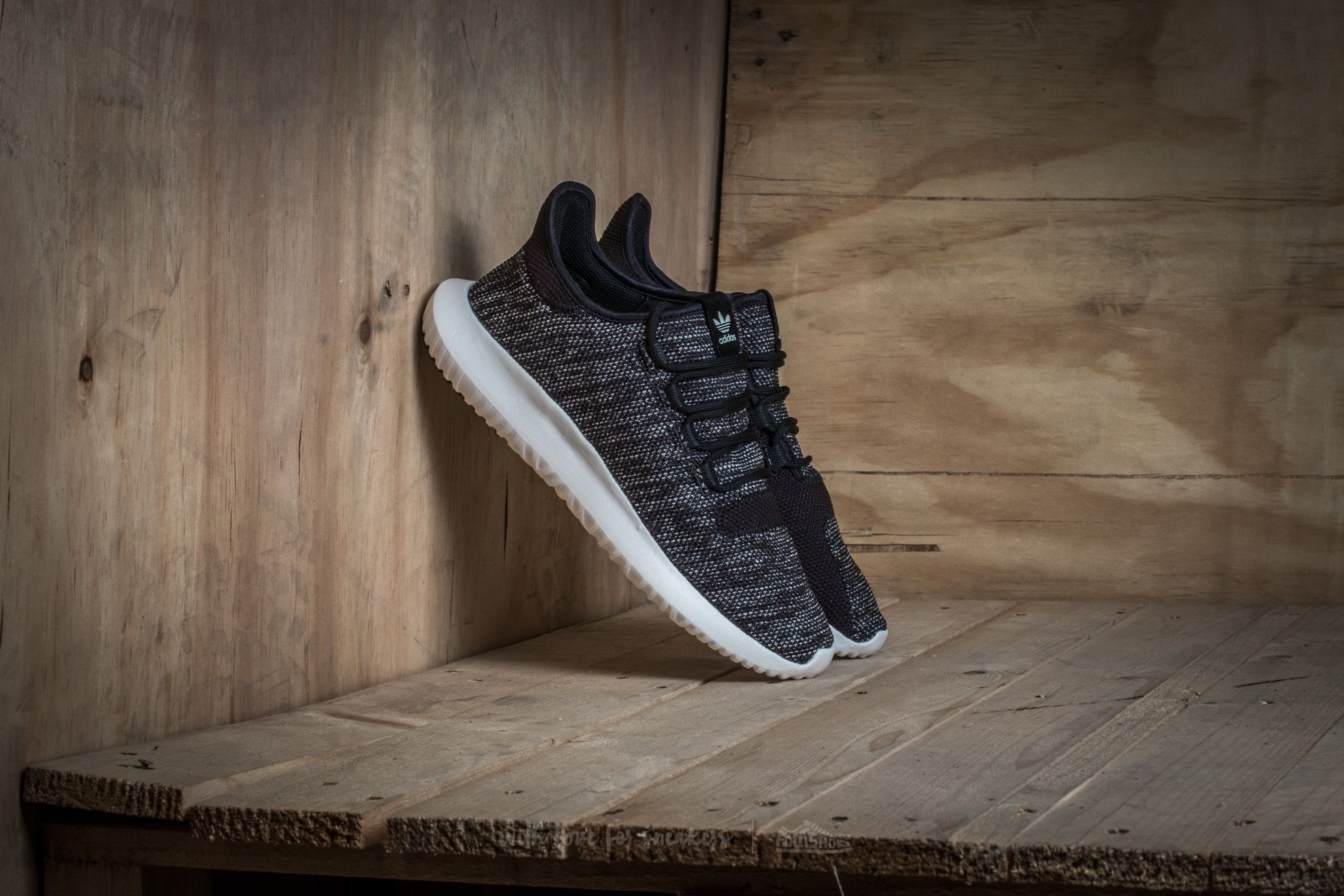 08b9a487adf adidas Tubular Shadow Knit Core Black  Utility Black  Vintage White ...