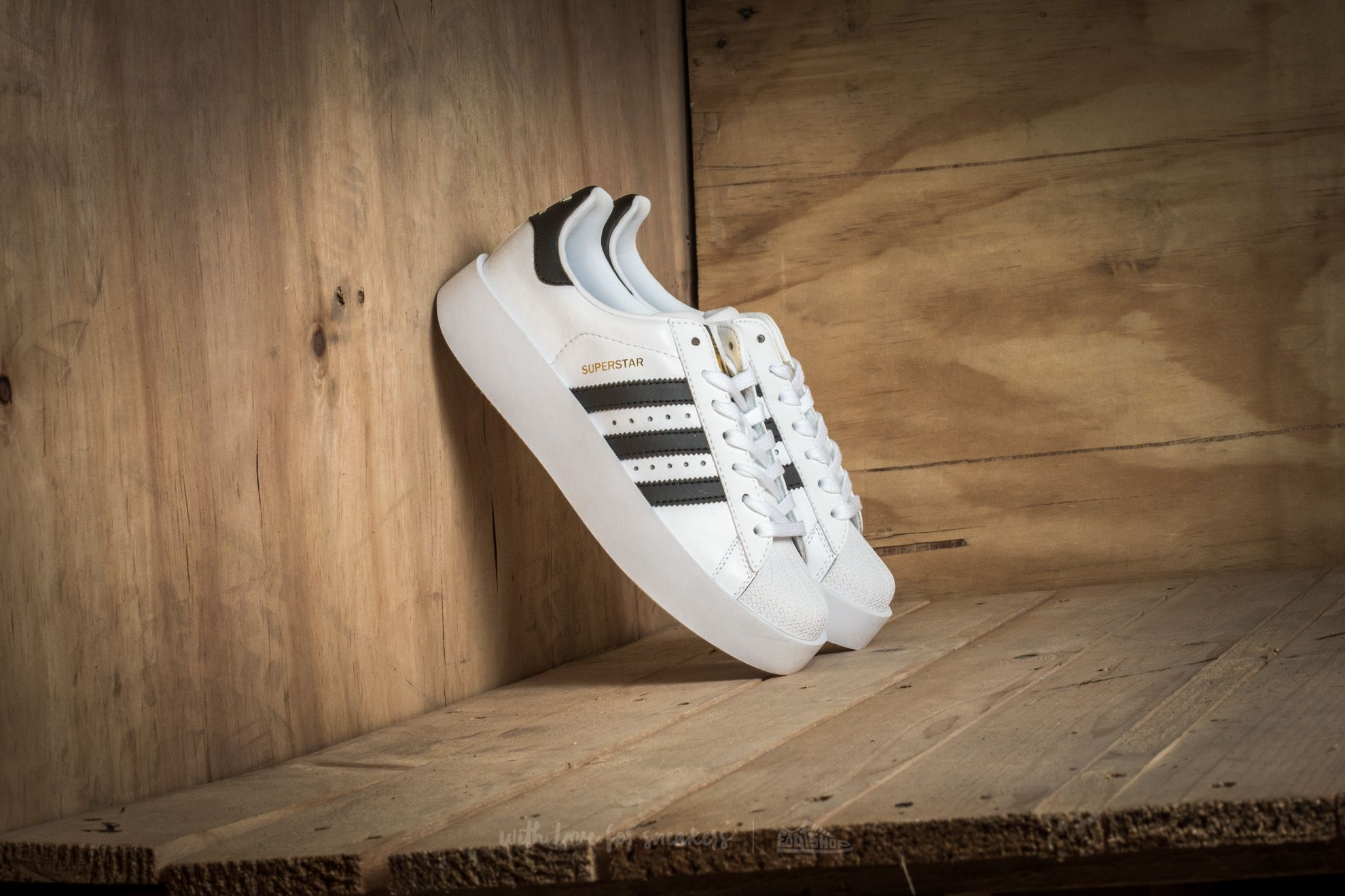 44082333793 adidas Superstar Bold Platform W Ftw White  Core Black  Gold Metallic ...
