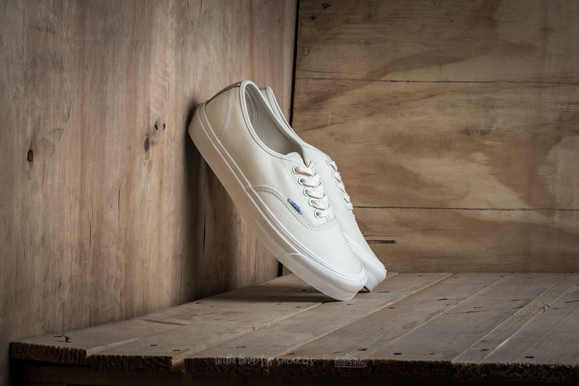 918589b4453c Vans OG Authentic LX (Canvas  Suede) Classic White  Safari
