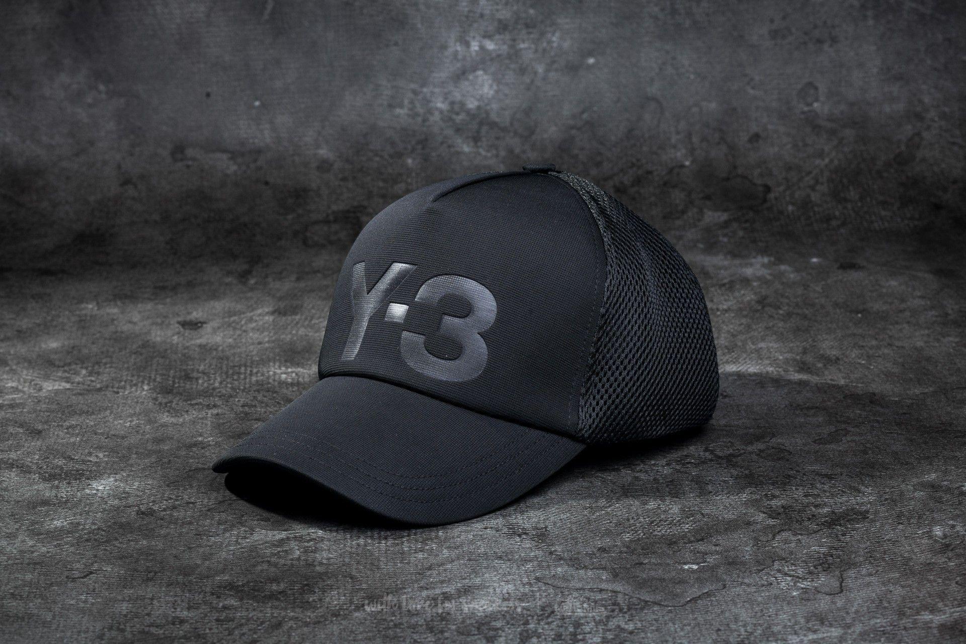 Y-3 Trucker Cap Black  5cec3e03f2f
