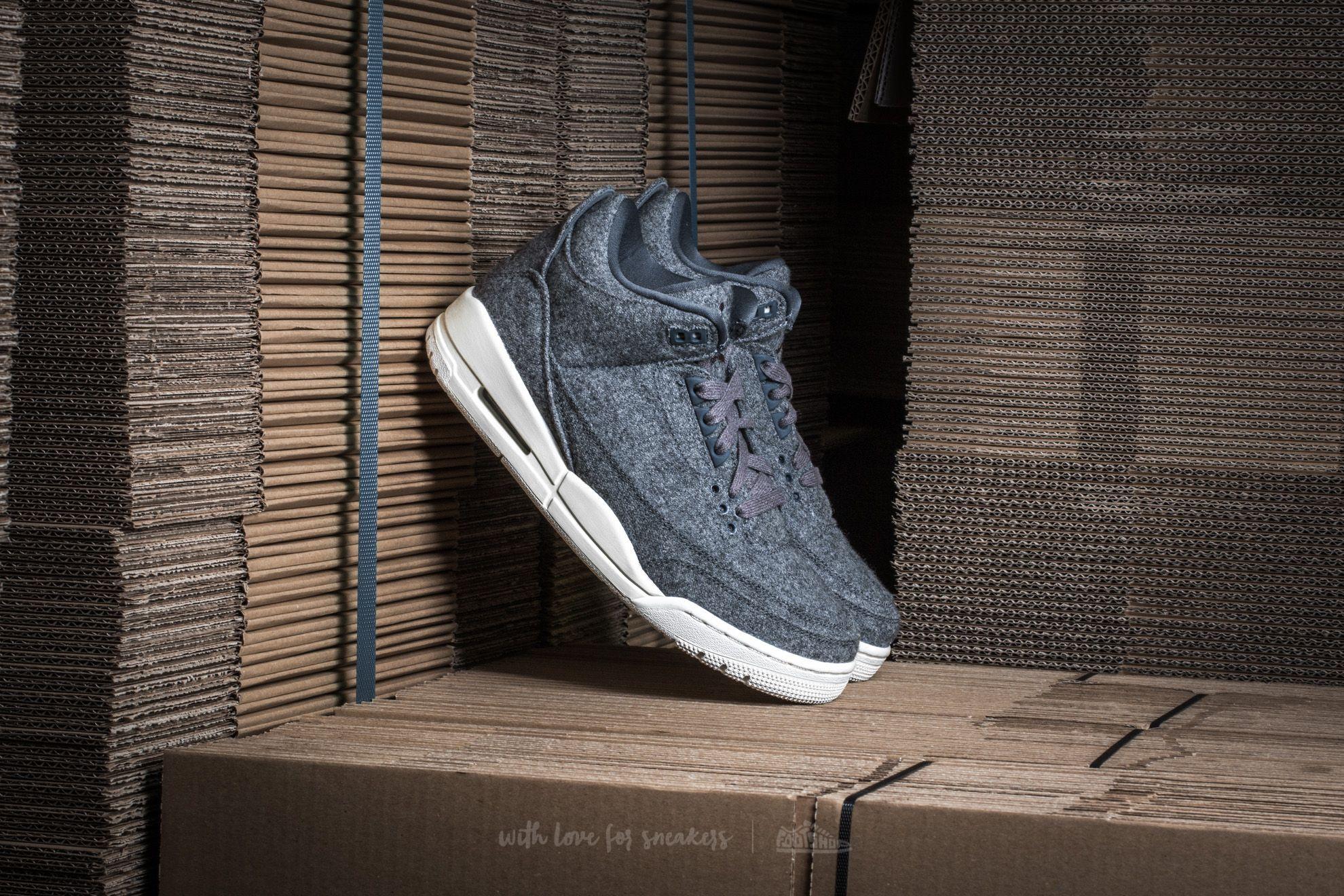 1db39707dd859 Air Jordan 3 Retro Wool Dark Grey/ Dark Grey-Sail | Footshop