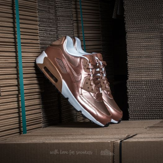 Hombre Nike Air Max 90 Se Ltr (Gs) Metallic Bronze