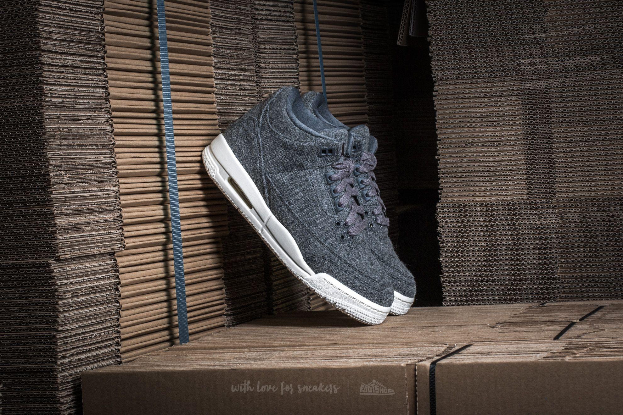 458516382ae Air Jordan 3 Retro Wool (GS) Dark Grey/ Dark Grey-Sail | Footshop