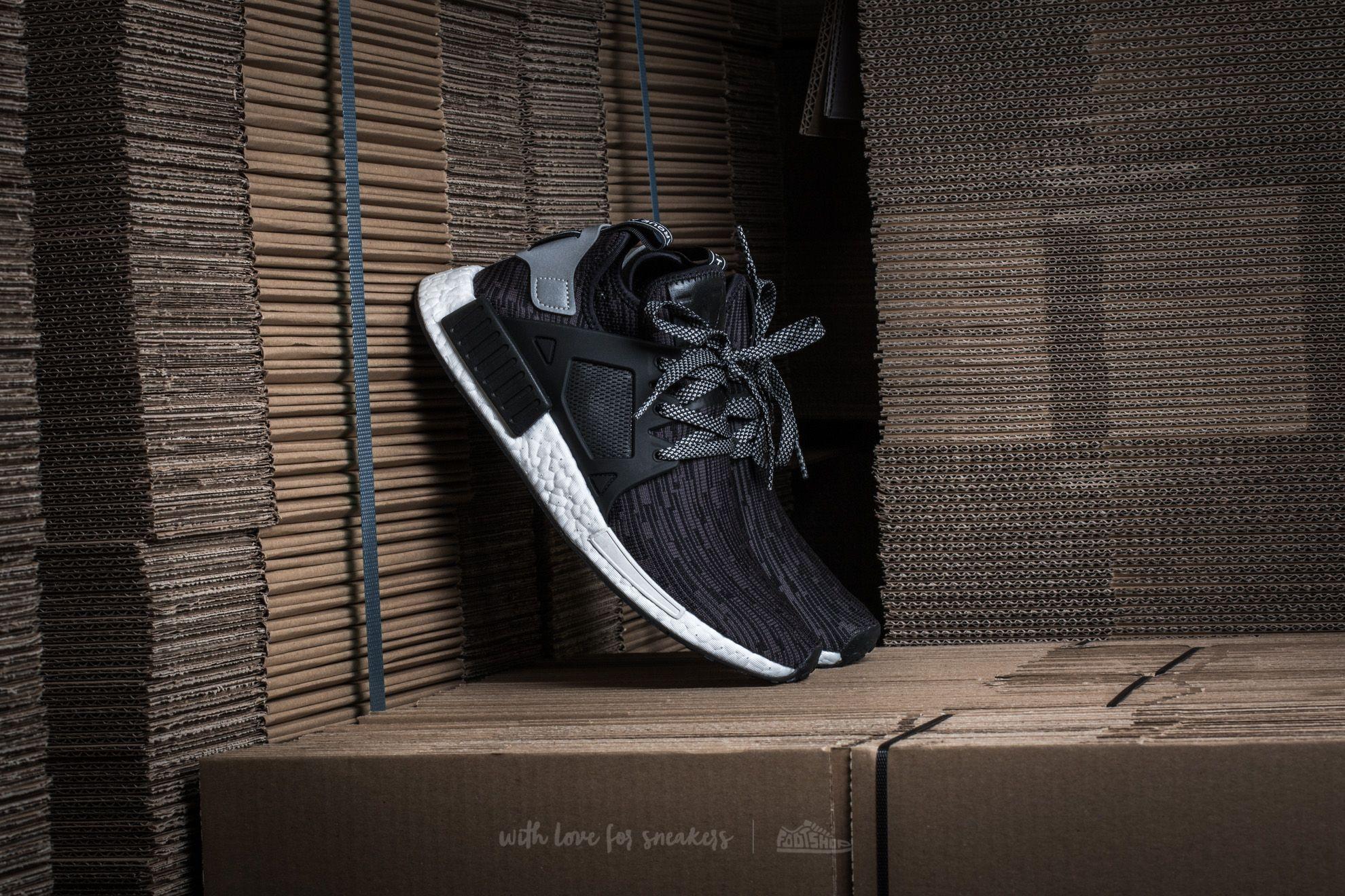 8c1175e04883 adidas NMD XR1 Primeknit Core Black  Matte Silver  Utility Black ...