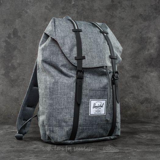 66a6947ce4b6 Herschel Supply Co. Retreat Backpack Raven Crosshatch  Black Rubber  3M  Insert