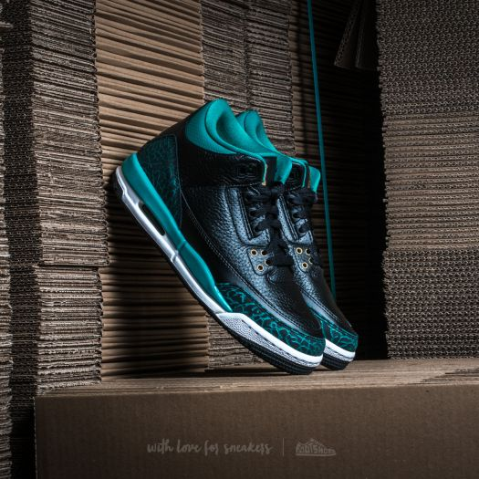 e13178b294a4 ... good air jordan 3 retro gs black metallic gold rio teal footshop a7323  5597a ...