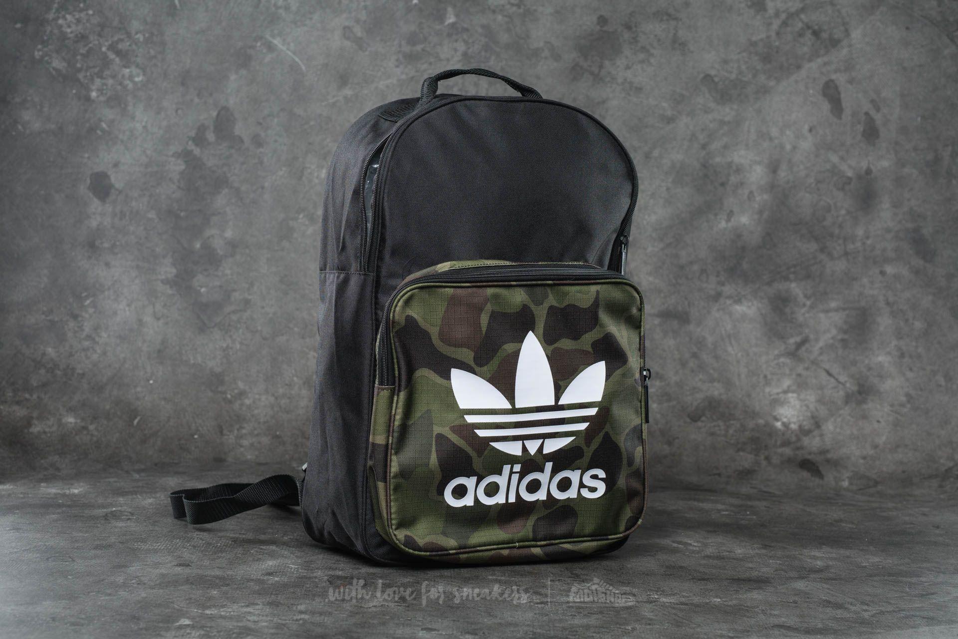 adidas Classic Camo Backpack Black  Multicolor  34536e74a0b64