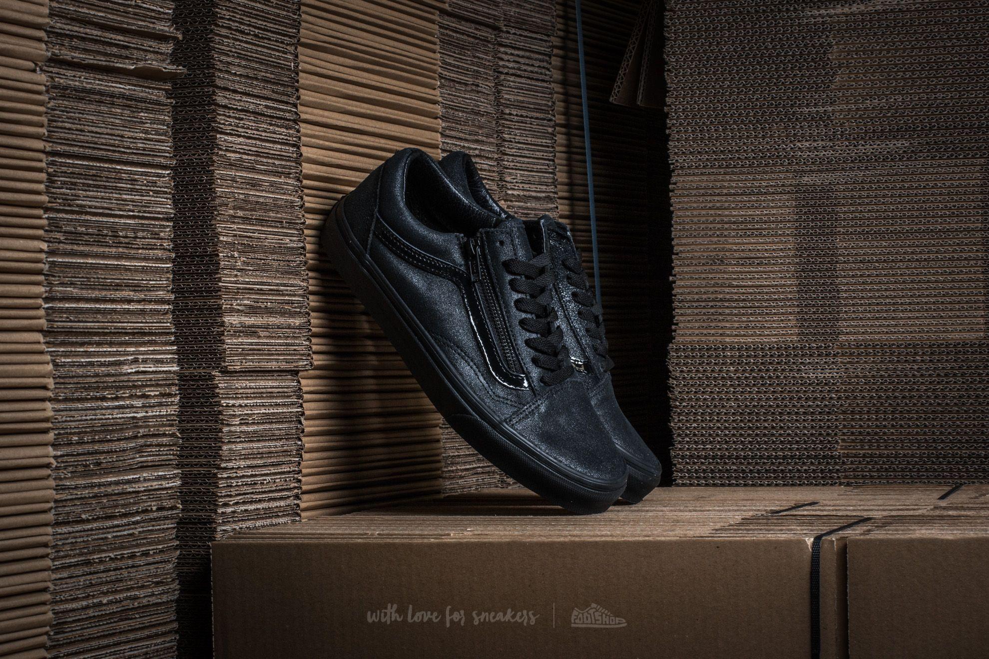 ad6adf23ba882b Vans Old Skool Zip (Patent Crackle) Black  Black