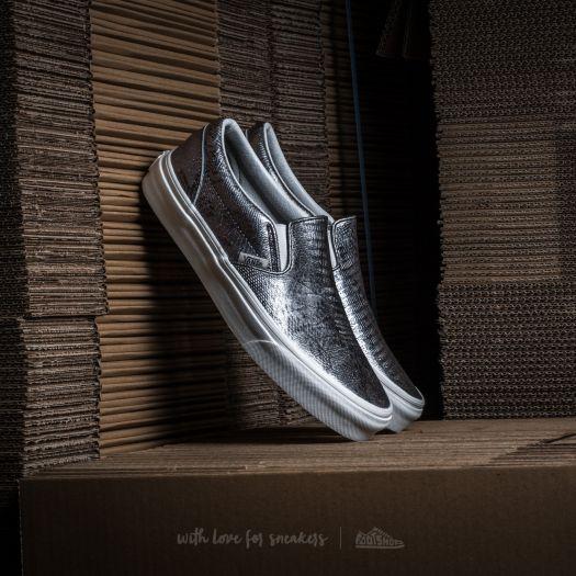 Vans Classic Slip On (Disco Python)Black Blanc de Blanc