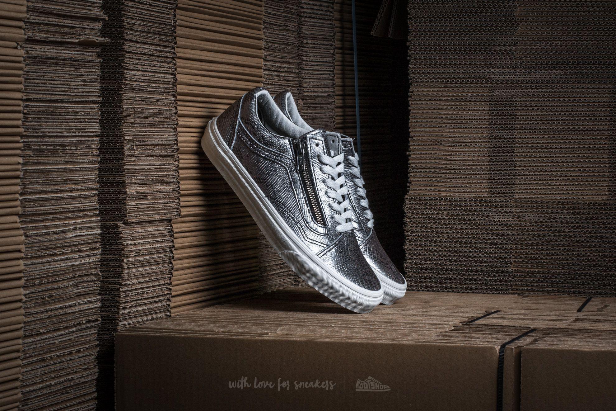 d07b541d08 Vans Old Skool Zip (Disco Python) Black  Blanc de Blanc