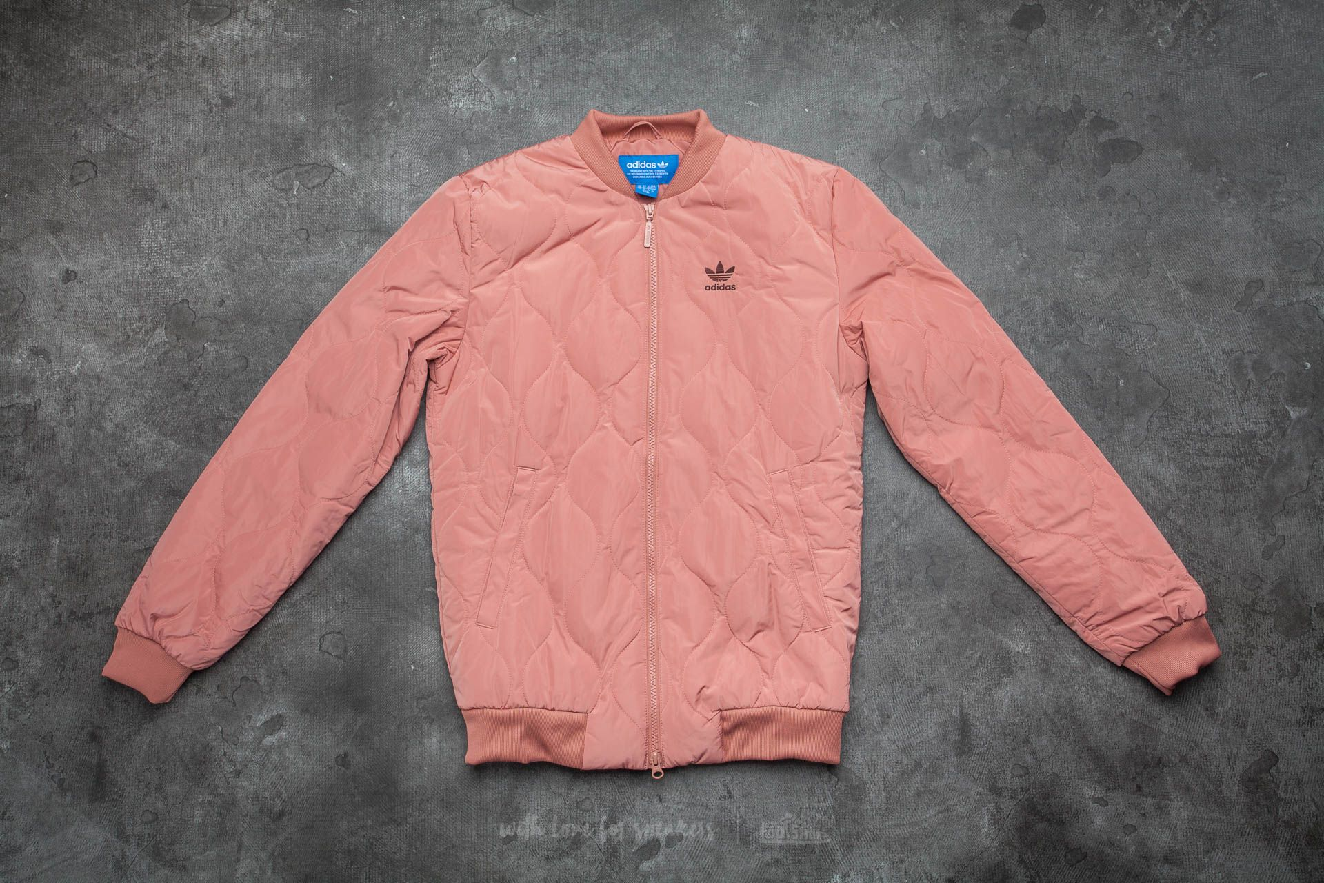 c2e4e573be49 adidas Quilted Bomber Rawpin
