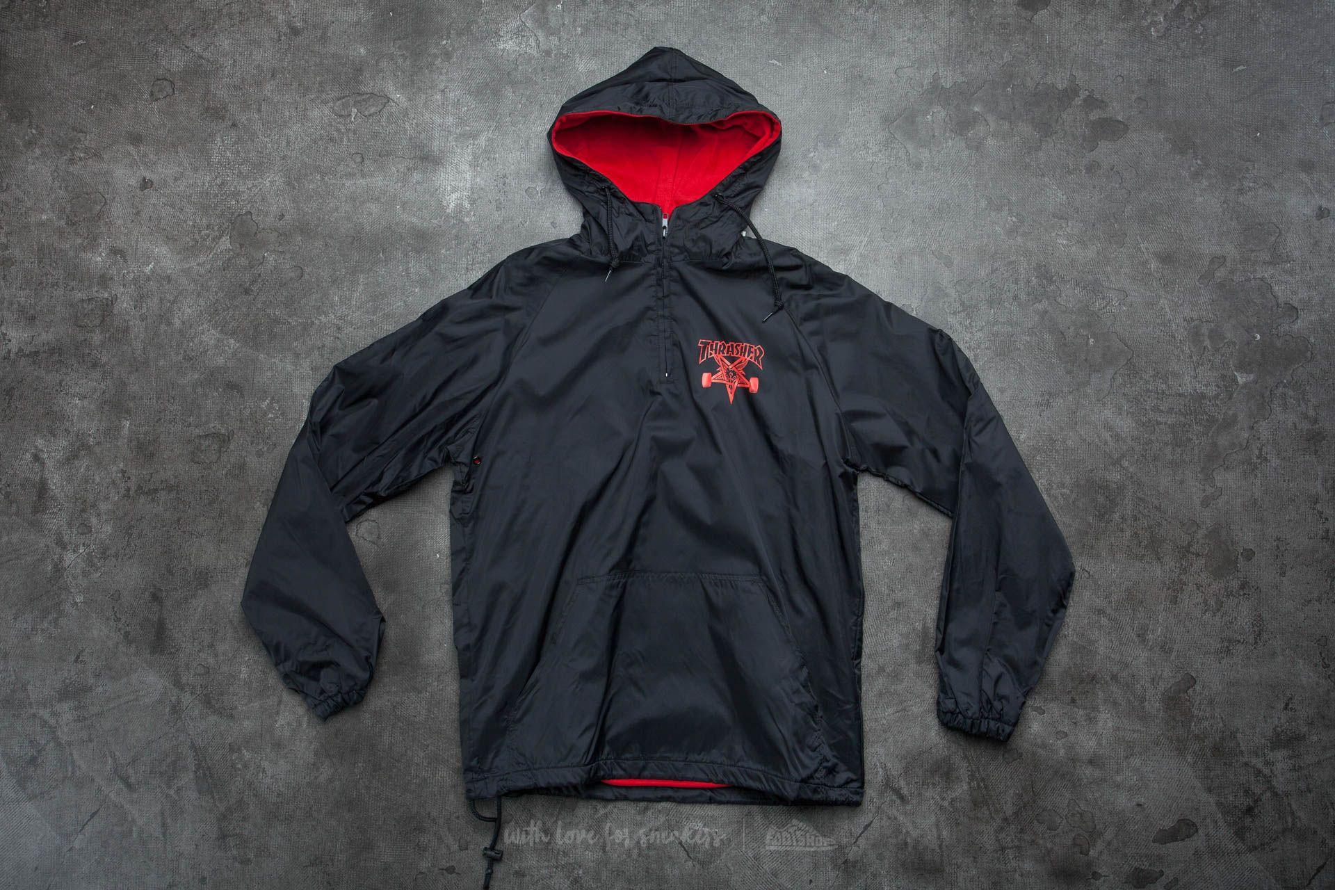6ce60e2354de Thrasher Skategoat Coach Hood Black  Red