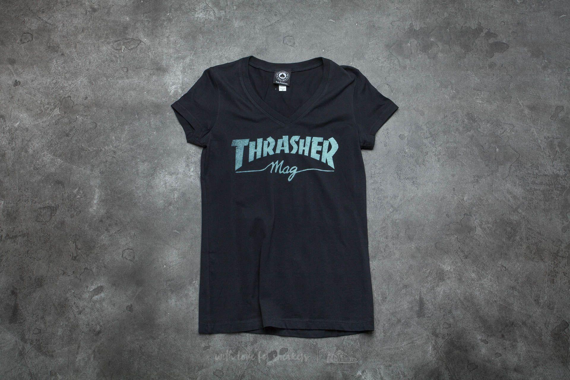 e46455129f0f Thrasher Girls Mag Logo V-Neck T-Shirt Black