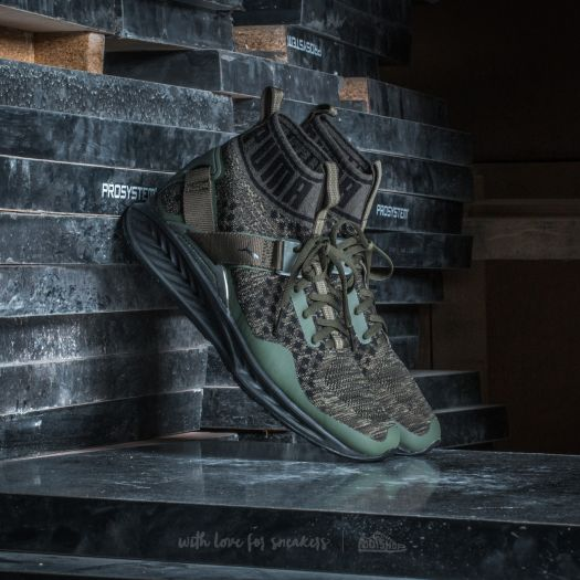 official photos 66523 2fa47 Puma Ignite evoKNIT Burnt Olive-Forest Night-Puma Black | Footshop