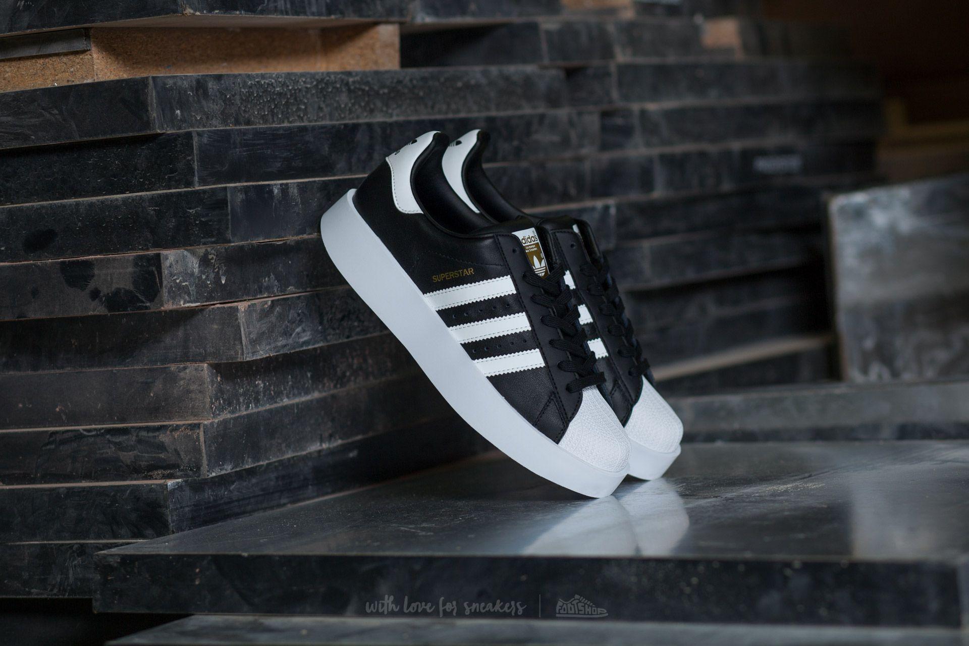 adidas Superstar Bold W Core Black/ Ftw White/ Gold Metallic | Footshop