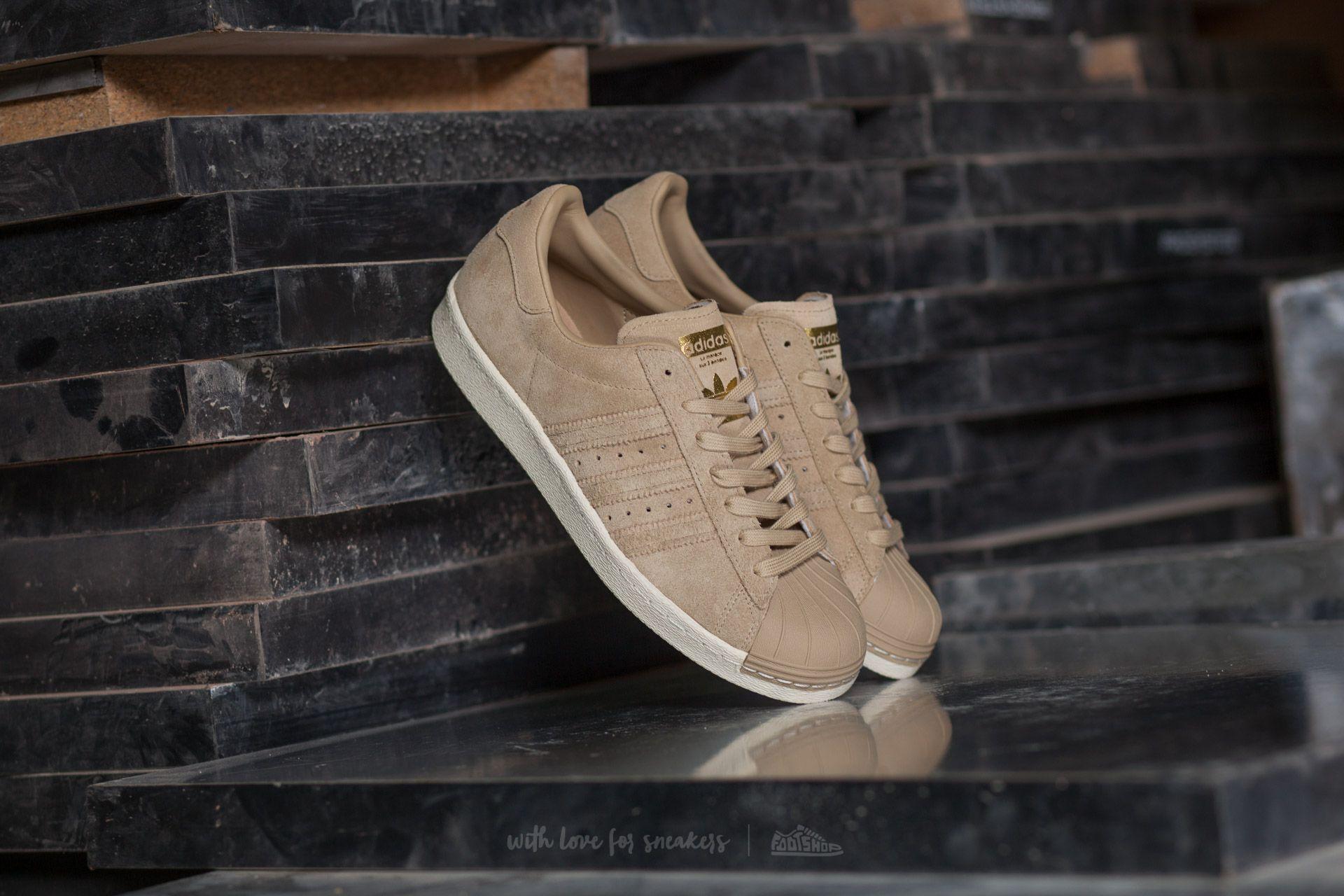adidas Superstar 80s Linen Khaki/ Linen Khaki/