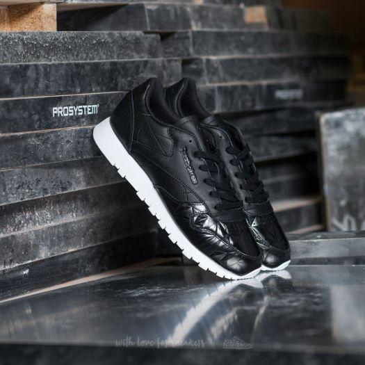 Reebok Classic Leather Hype Metallic Black White | Footshop