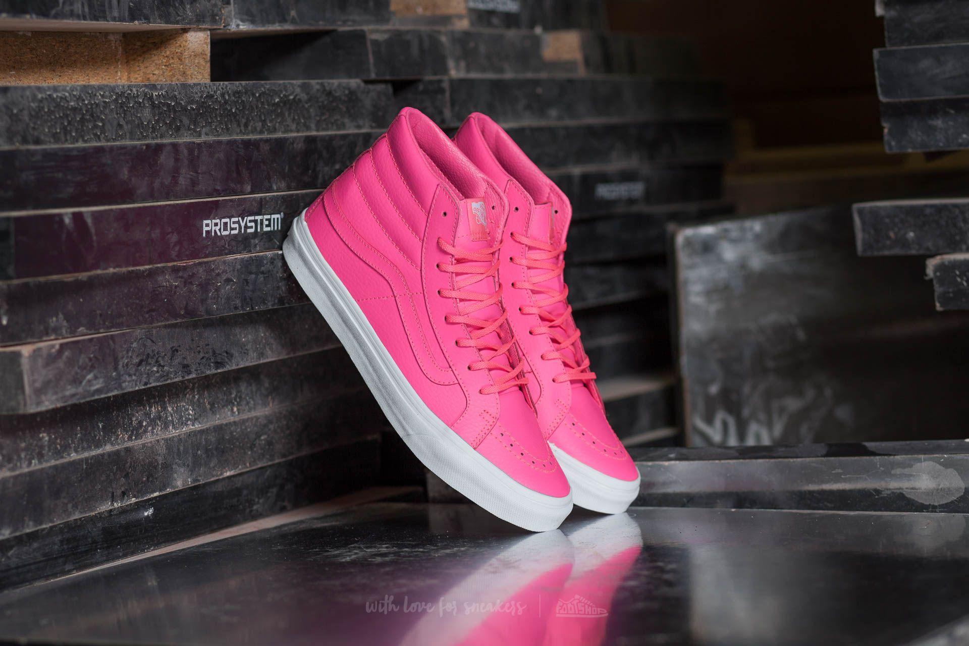 0b25a8eb17 Vans Sk8-Hi Slim Neon Leather  Neon Pink