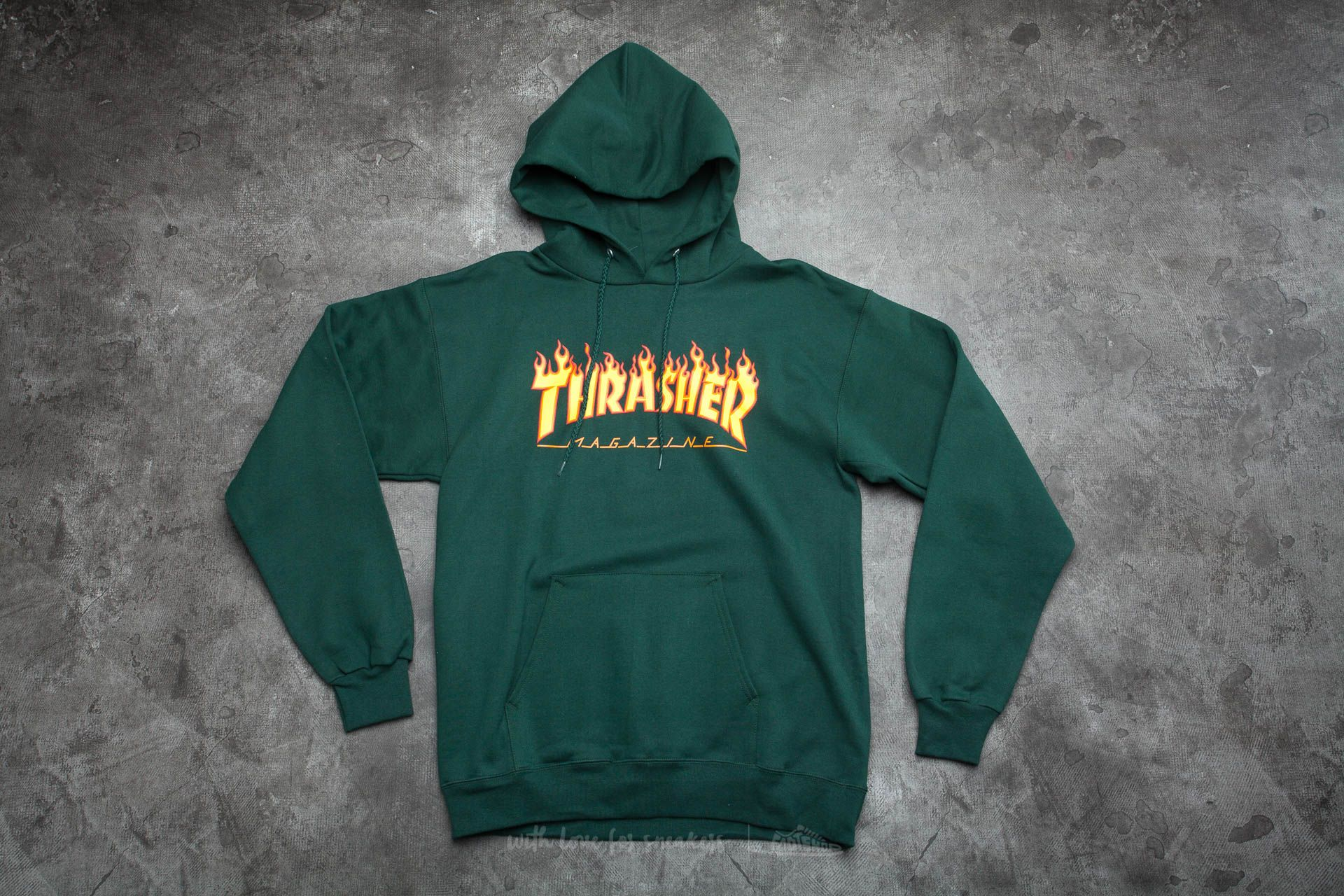 7c889c4a Thrasher Flame Logo Hoodie Forest Green | Footshop