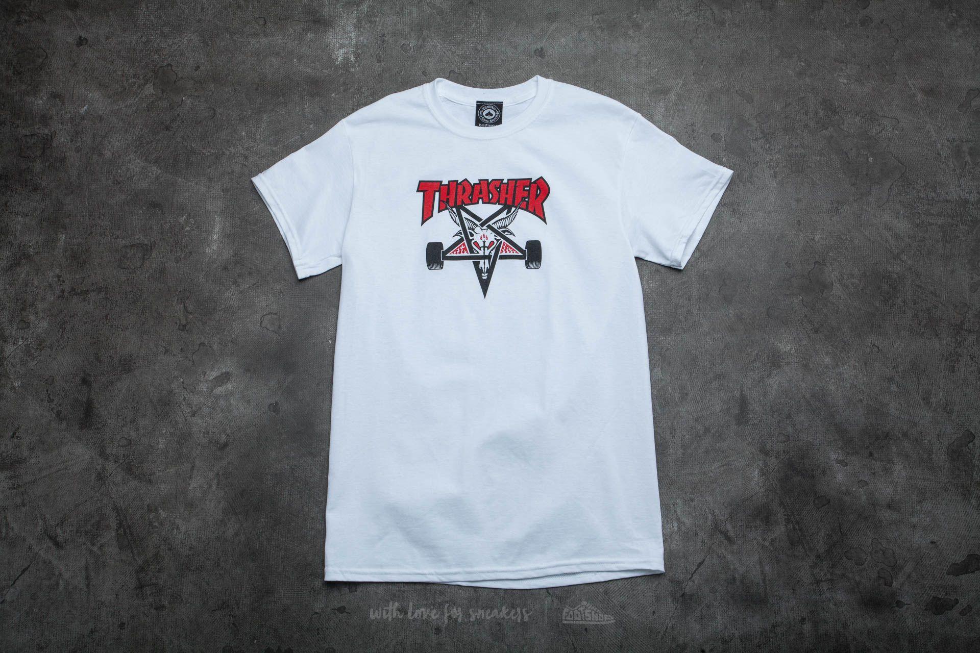 486cb8a7a742 Thrasher Two-Tone Skategoat T-Shirt White
