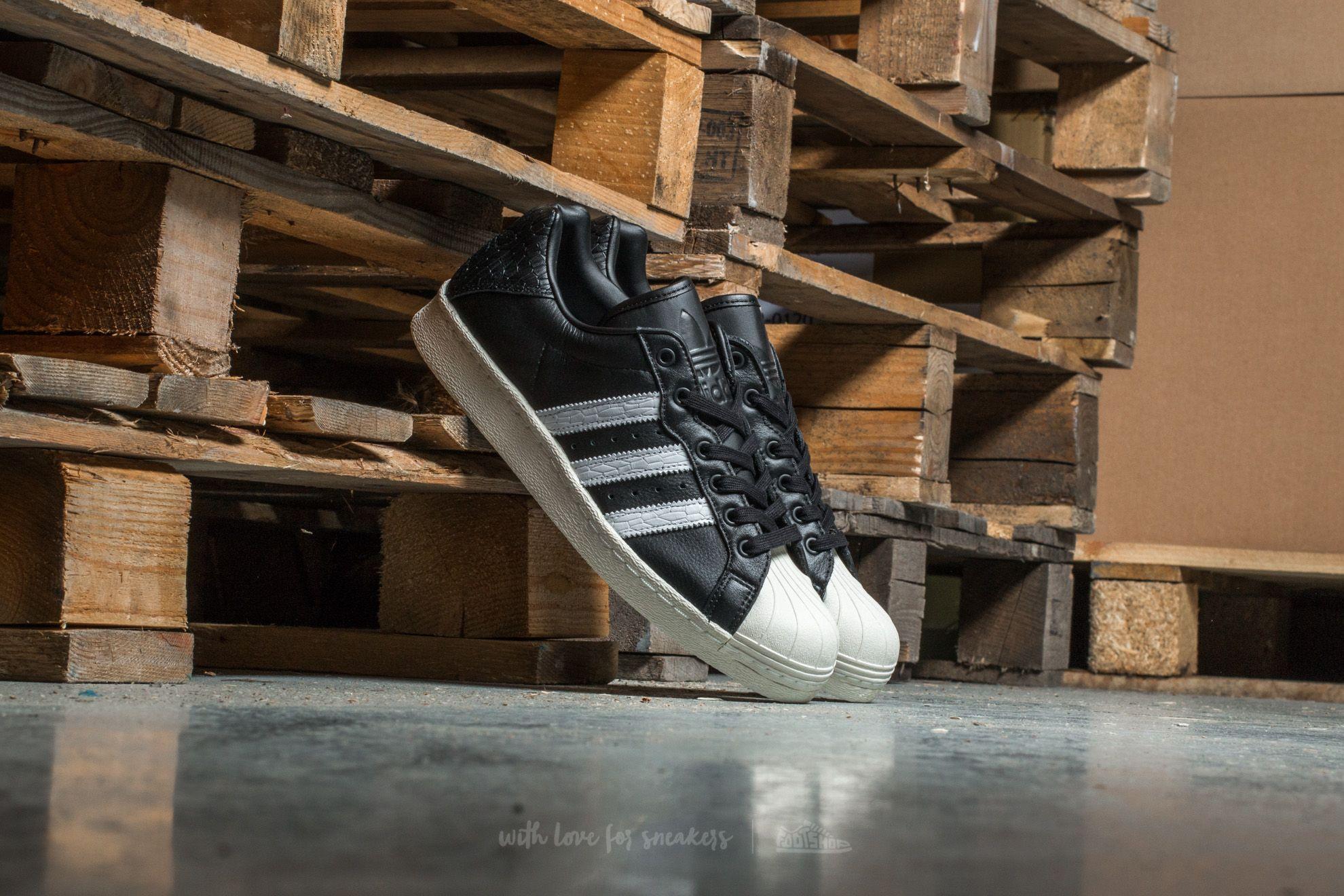 38b1c81ad41daf adidas Ultrastar 80s Core Black  Ftw White  Off White