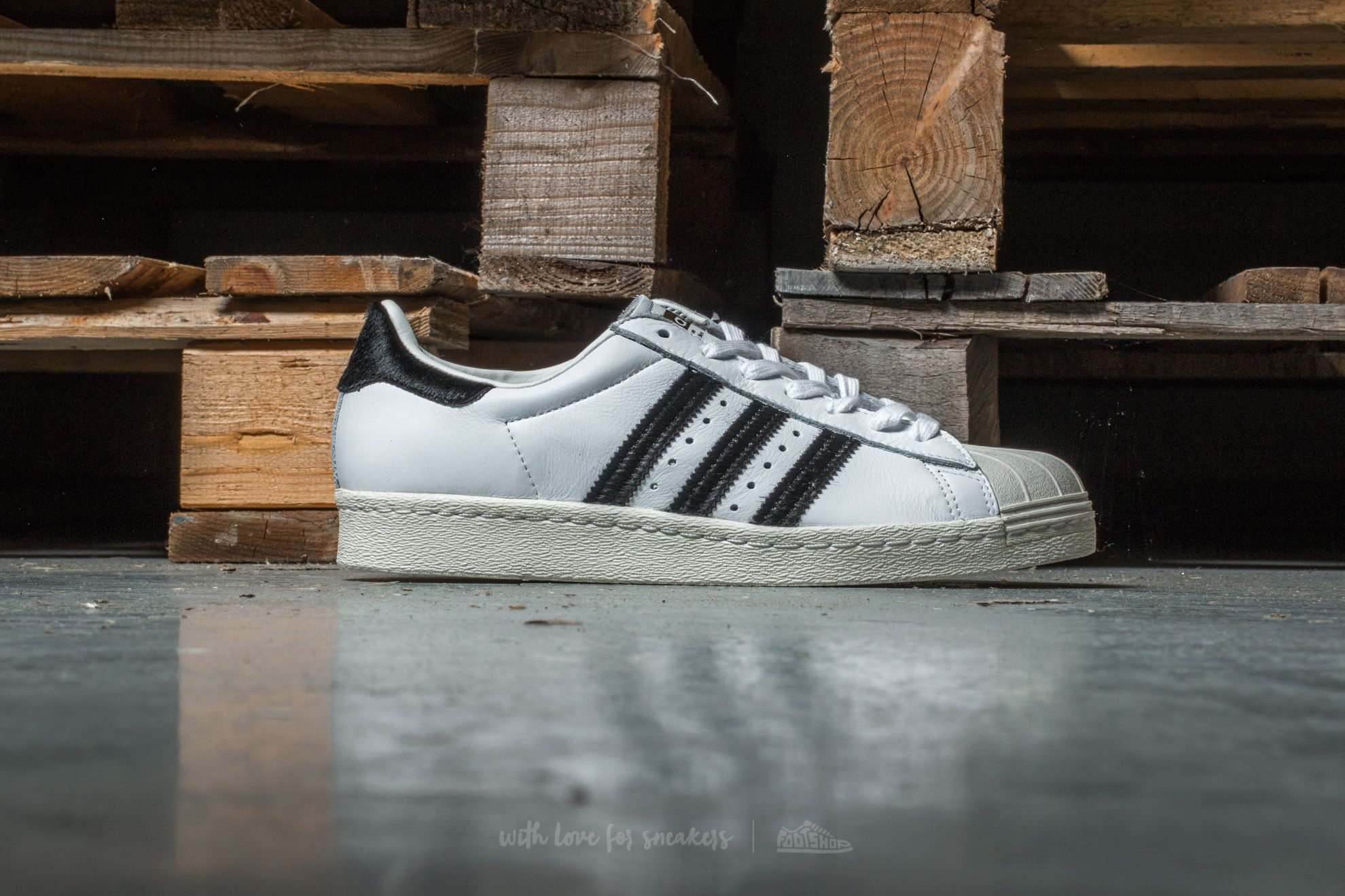 Adidas Superstar 80s Running White Ftw Black Metallic Gold