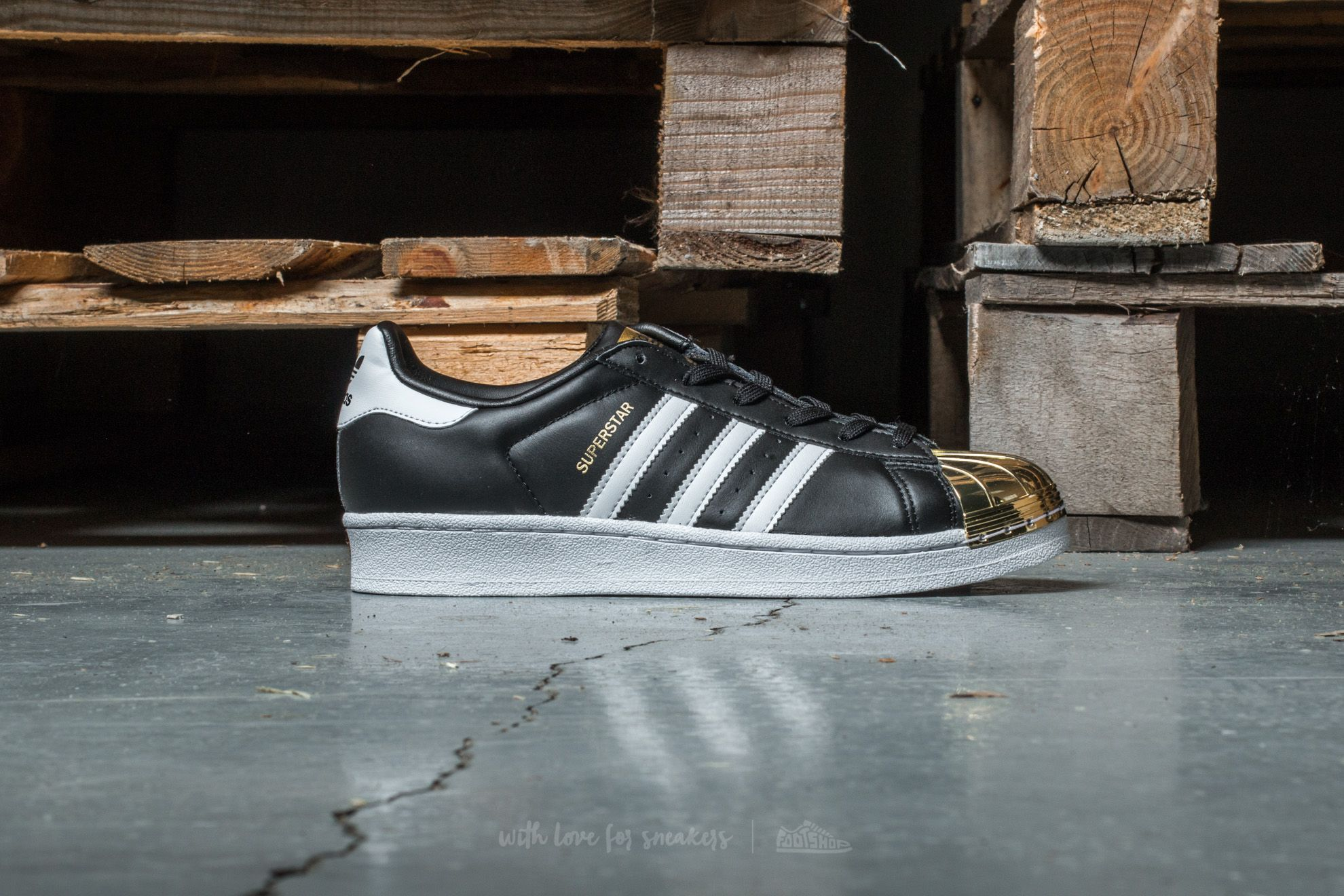 adidas Superstar Metal Toe W Core Black Ftw White Gold | Footshop