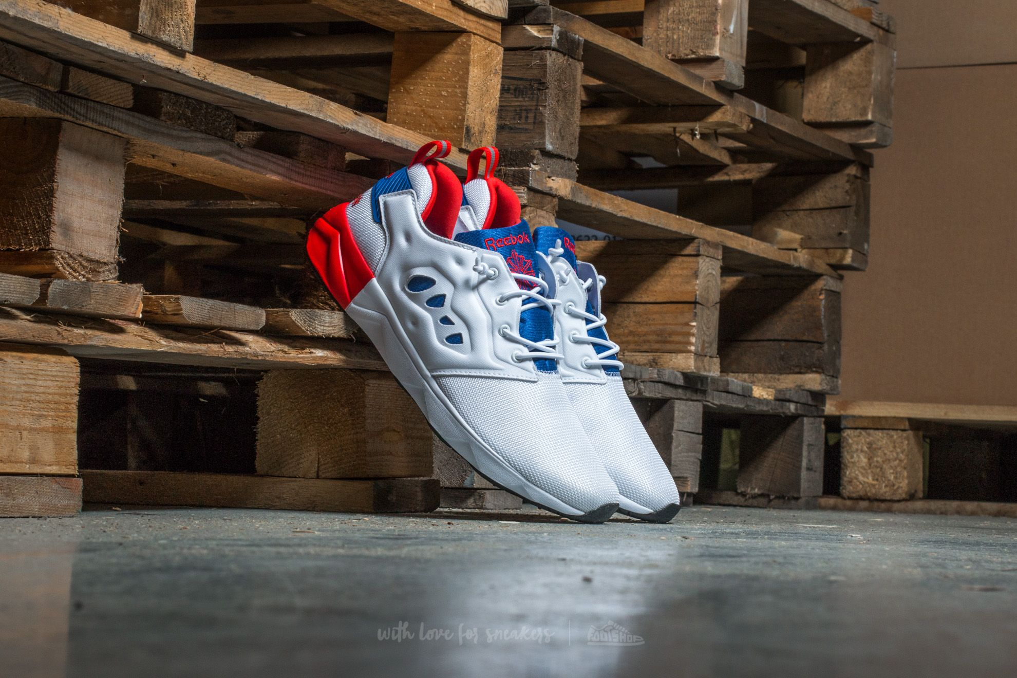 ecb703e421a Reebok Furylite II White  Royal  Riot Red