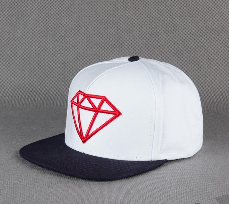 45ef8d4cdde Diamond Rock Logo Snapback White Red Navy