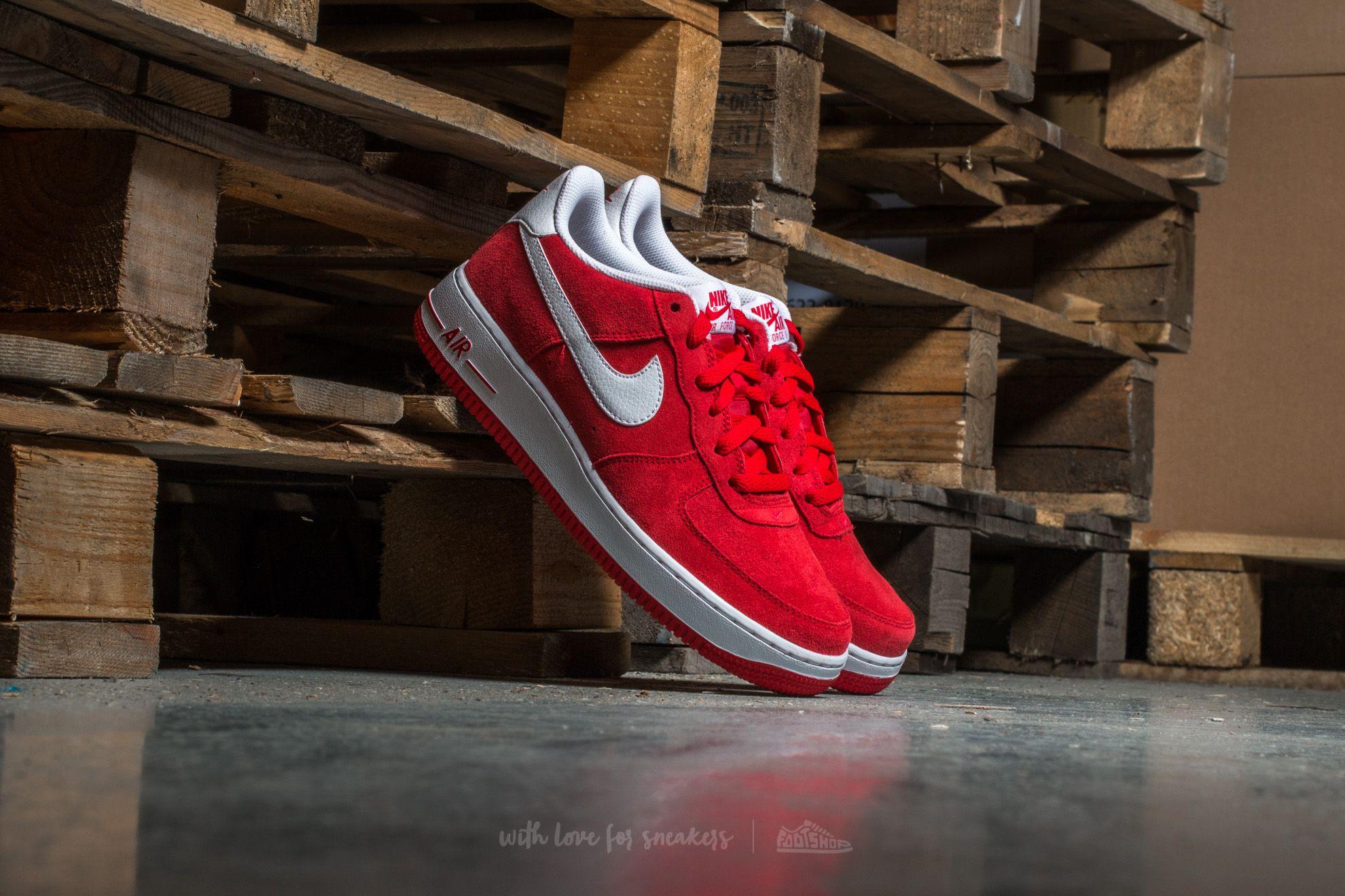 aea3ef3ad5e8 Nike Air Force 1 (GS) University Red  White