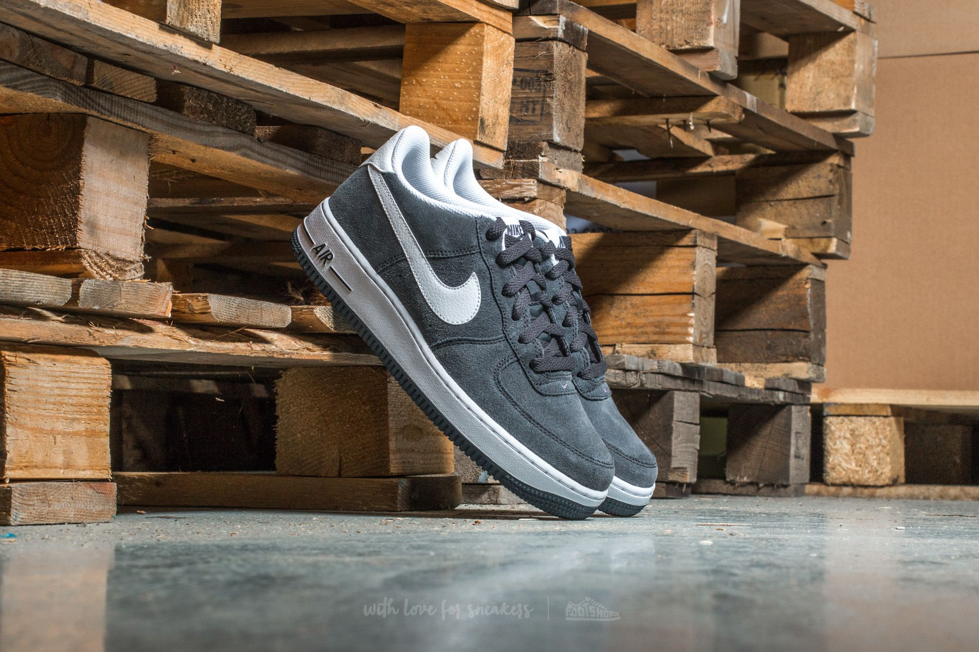 new concept 9847c 9945b Nike Air Force 1 (GS) Anthracite White