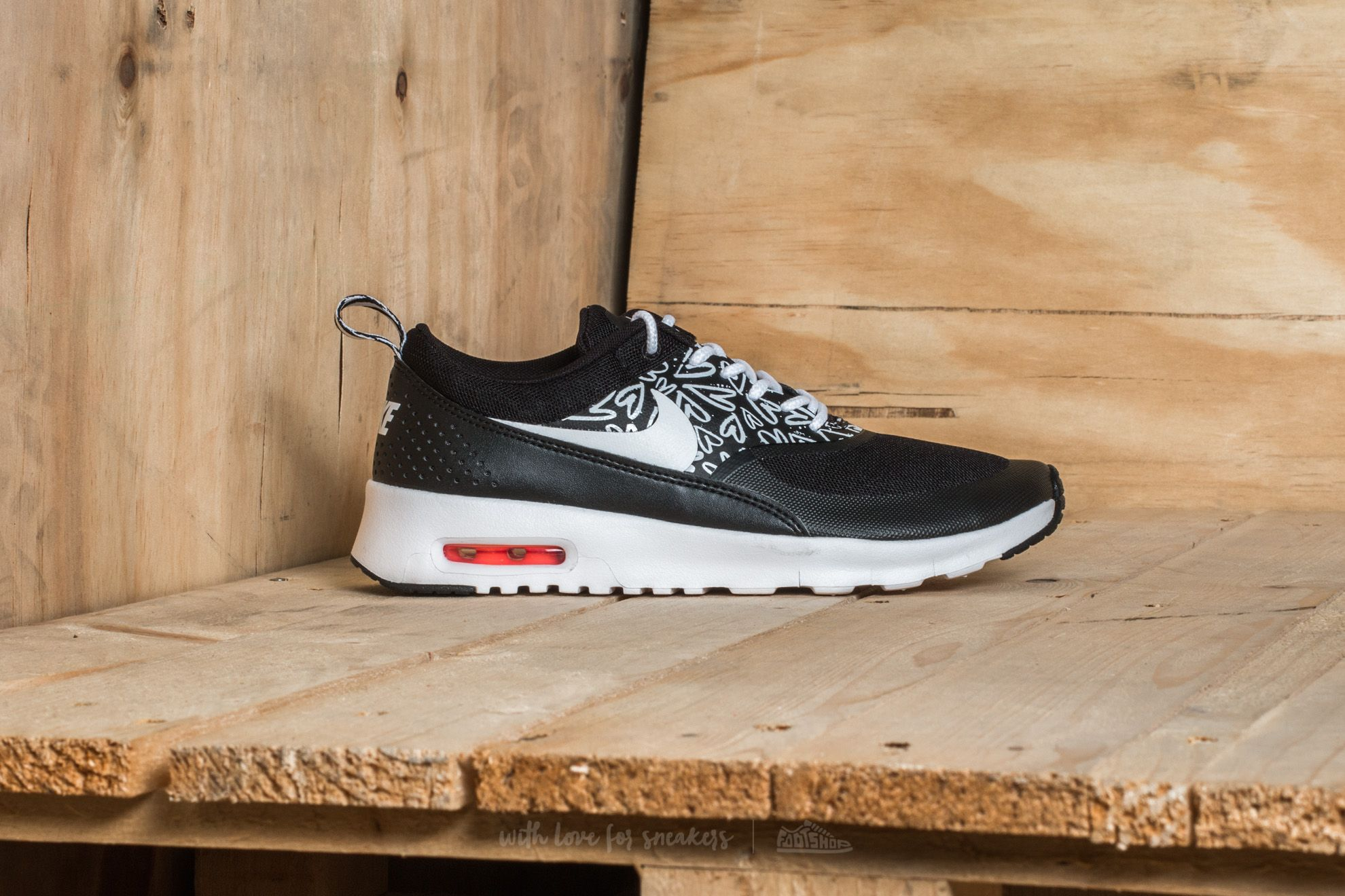 Nike Air Max Thea Print (GS) Black White Lava Glow | Footshop