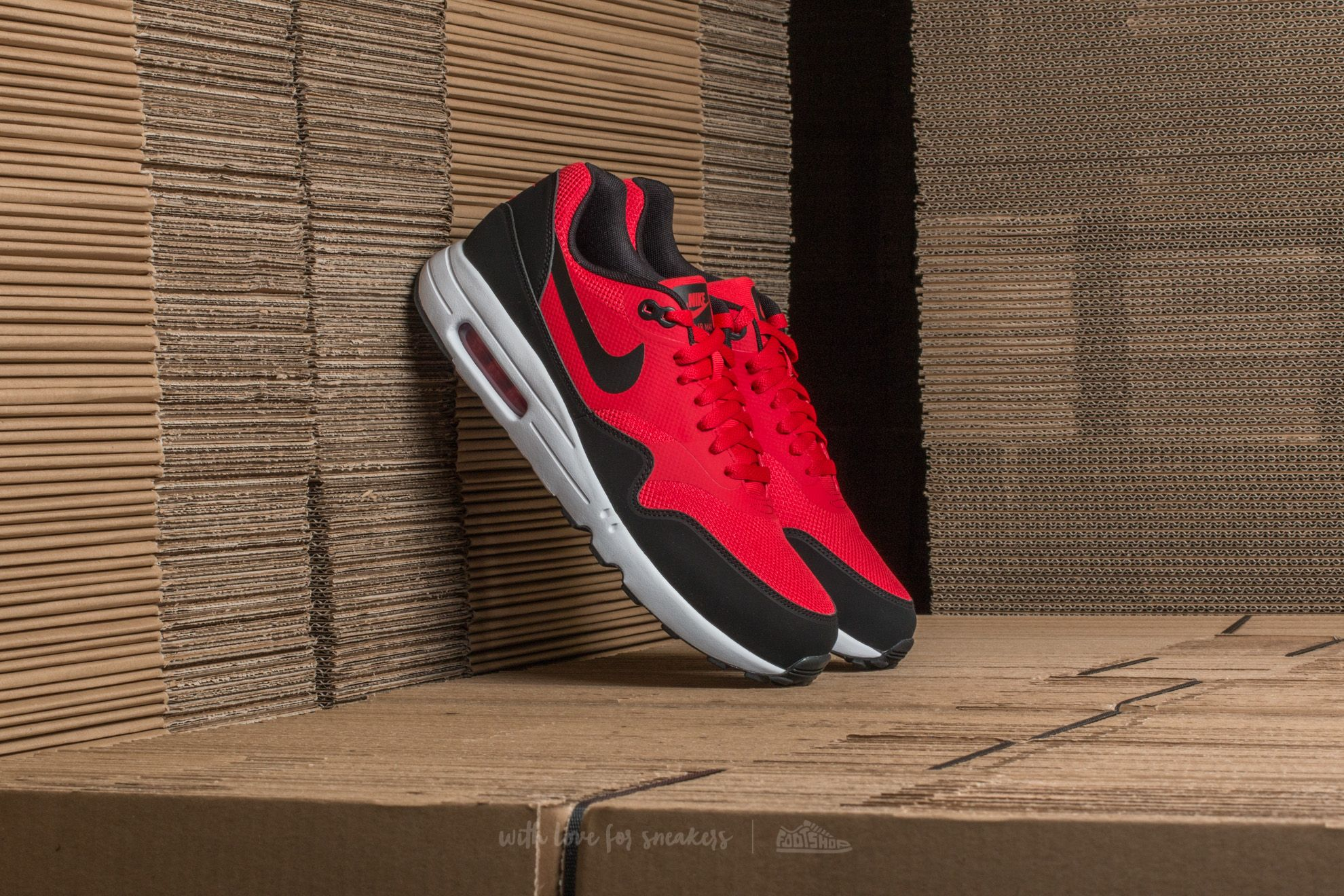 951859c45ee Nike Air Max 1 Ultra 2.0 Essential University Red/ Black-White ...