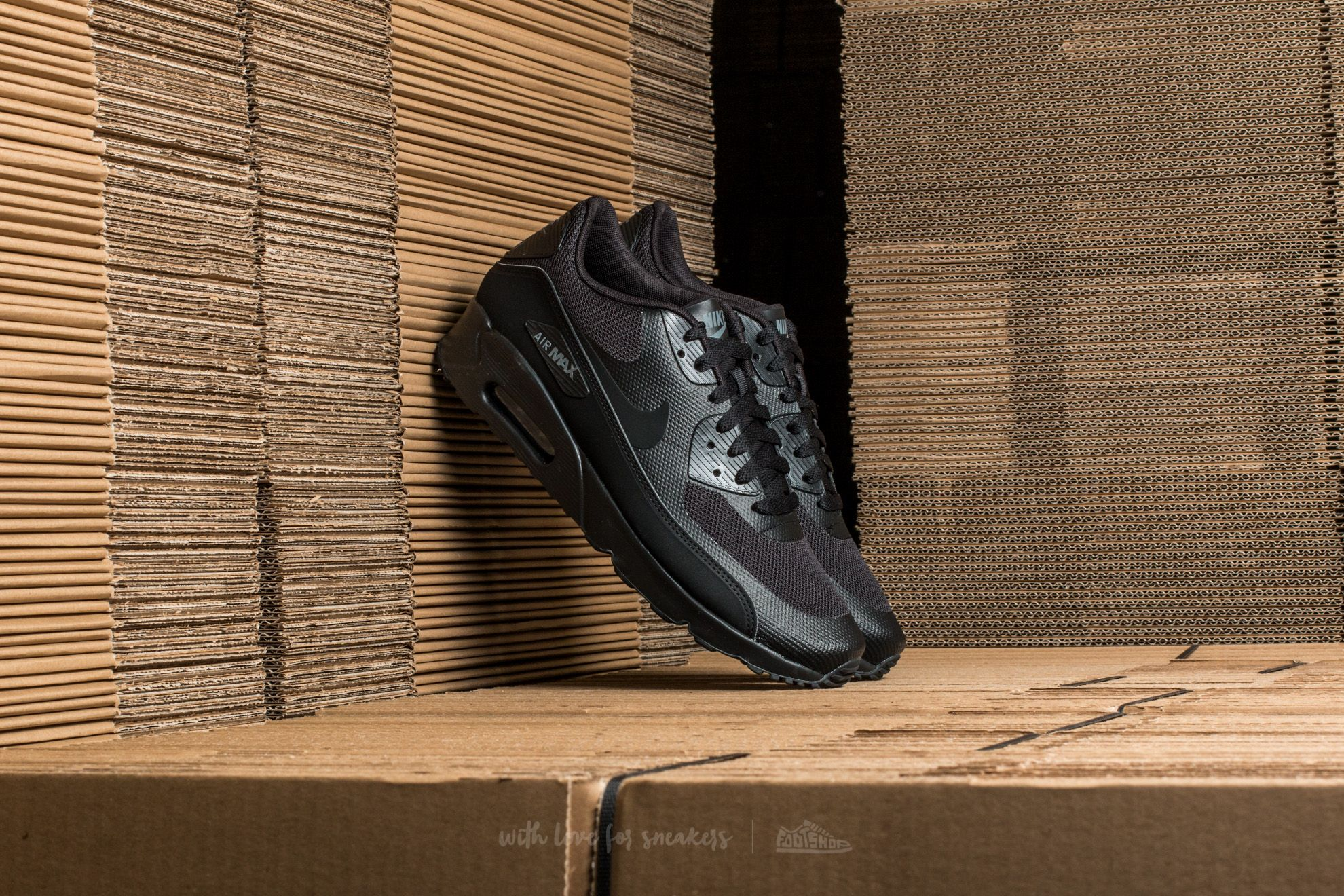 Nike Air Max 90 Ultra 2.0 Essential Black  Black-Black-Dark Grey ... fc4a4f80c39