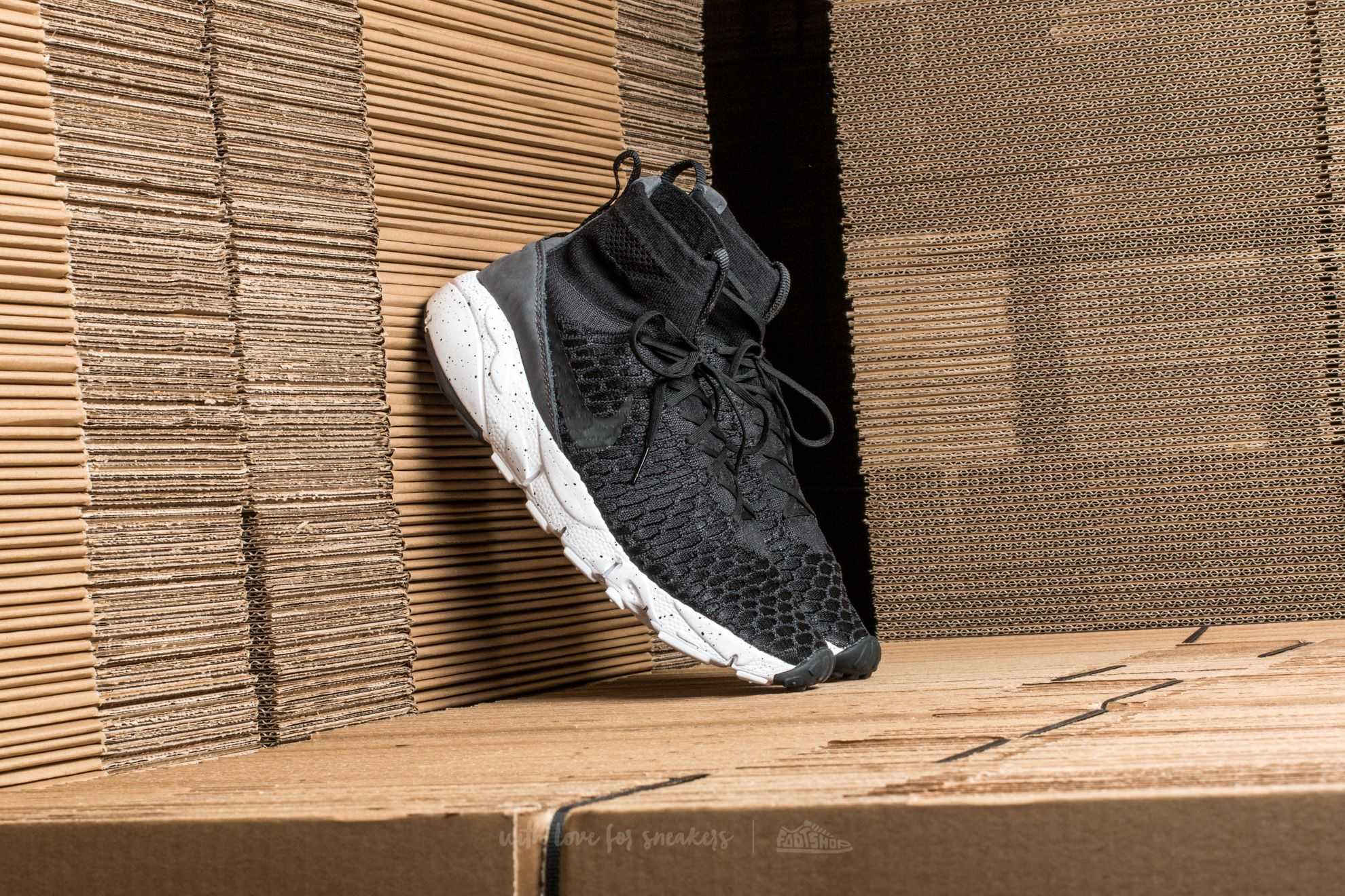 edfa306bae618 Nike Air Footscape Magista Flyknit Black  Black-Dark Grey-Volt ...