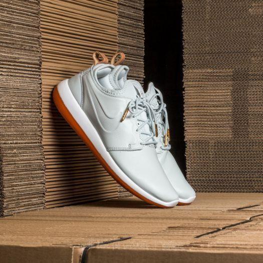 Men's Nike Roshe Two Leather Premium Shoes Off White Off White White Gum