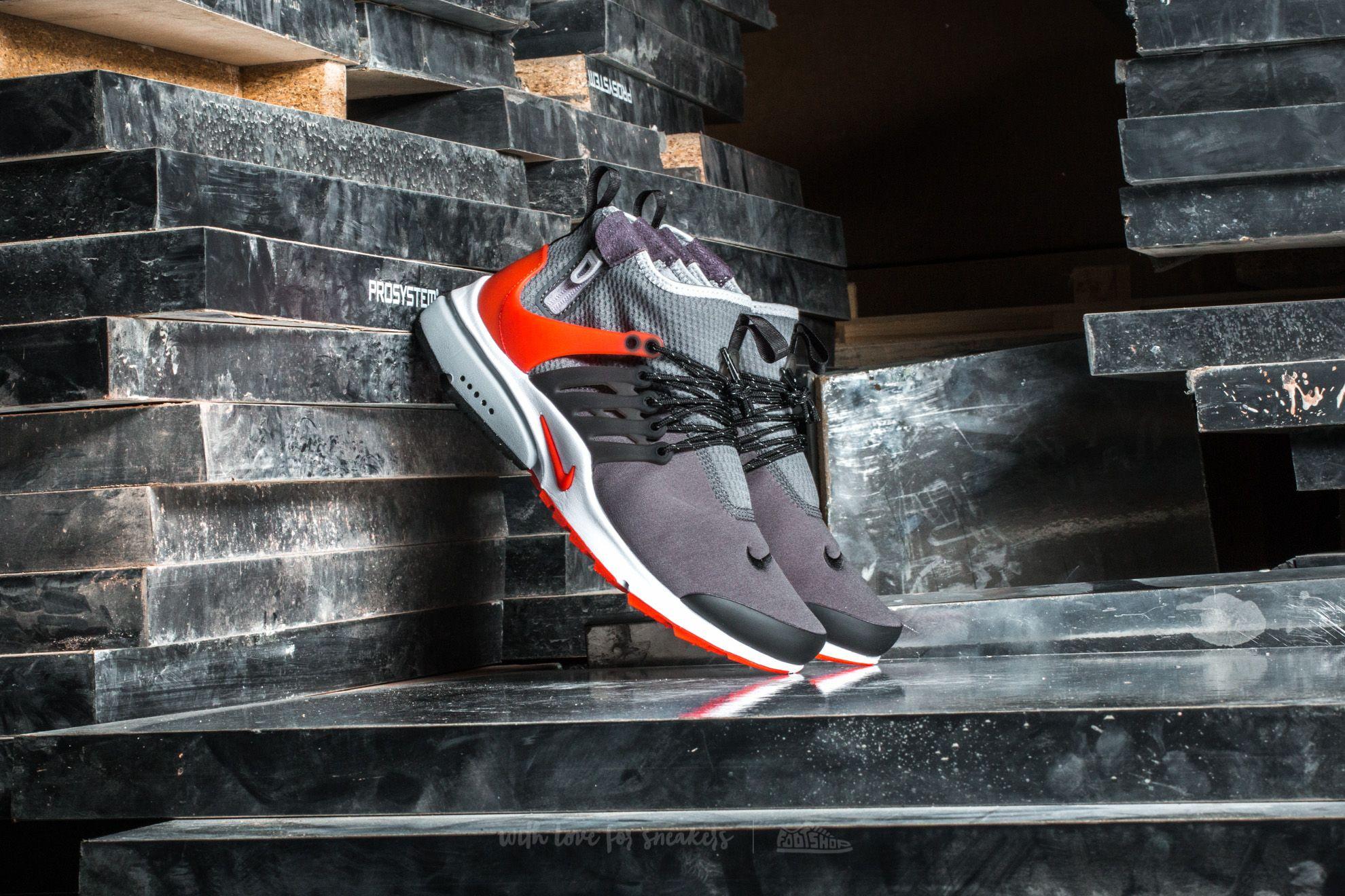 Nike Air Presto Mid Utility Dark Grey  Max Orange-Black  8682410c9