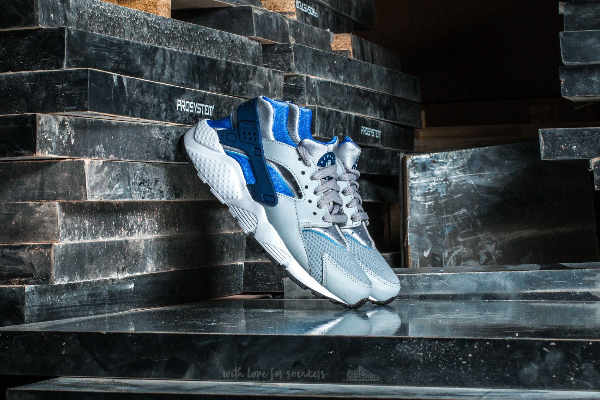 114fdbe13632 Nike Huarache Run (GS) Wolf Grey  Binary Blue